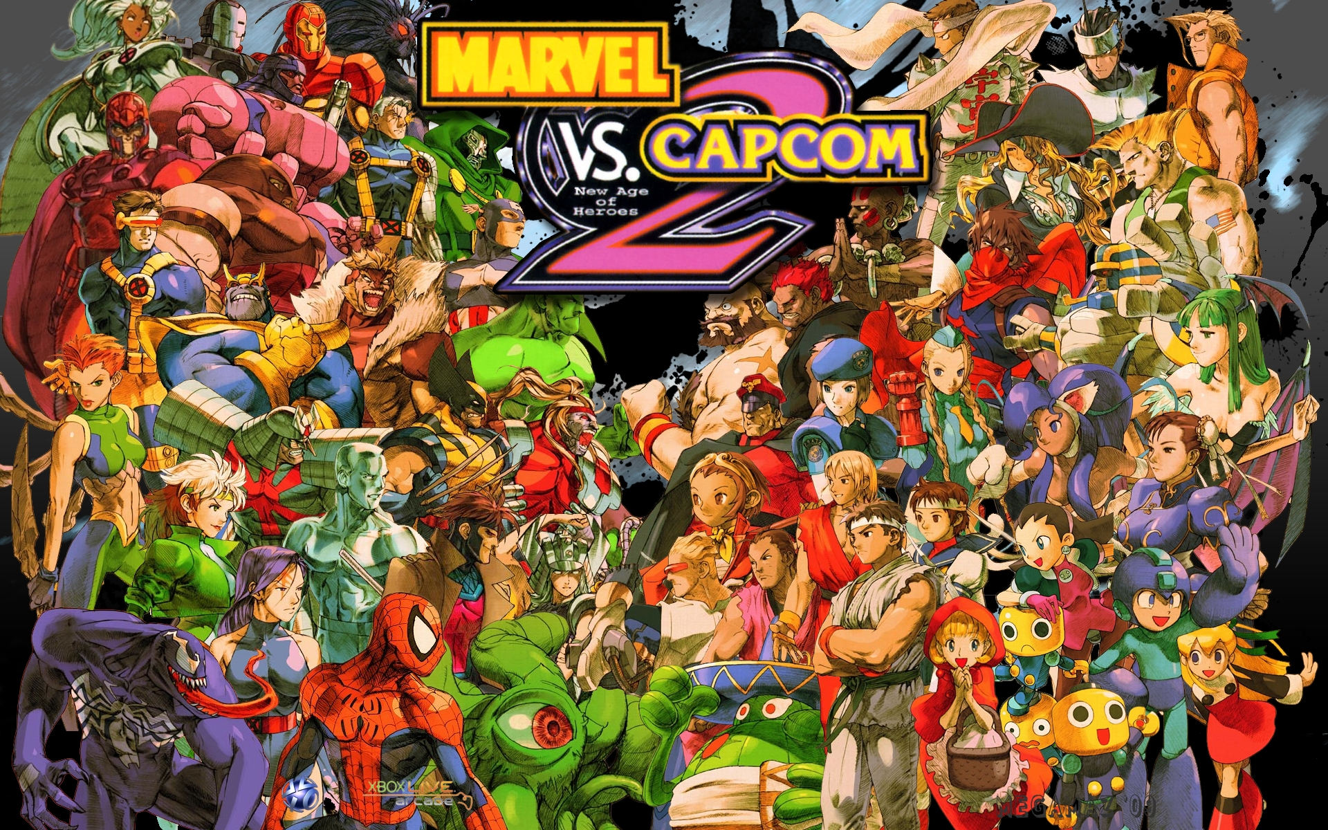 10 marvel vs. capcom 2 hd wallpapers | background images - wallpaper