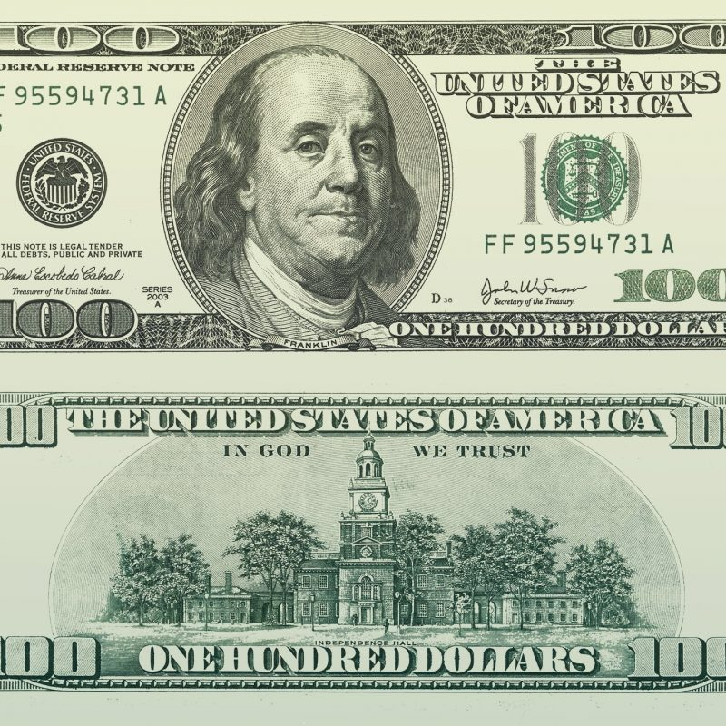 10 Best Image Of 100 Dollar Bill FULL HD 1080p For PC Background 2018 free download 100 u s dollars bill back and front view hd wallpaper wallpaper flare 800x800