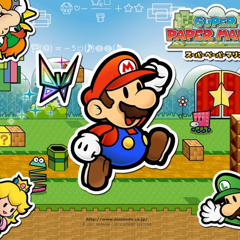 10 Top Super Paper Mario Wallpaper FULL HD 1920×1080 For PC Desktop 2021 free download 11 super paper mario hd wallpapers background images wallpaper abyss 800x800