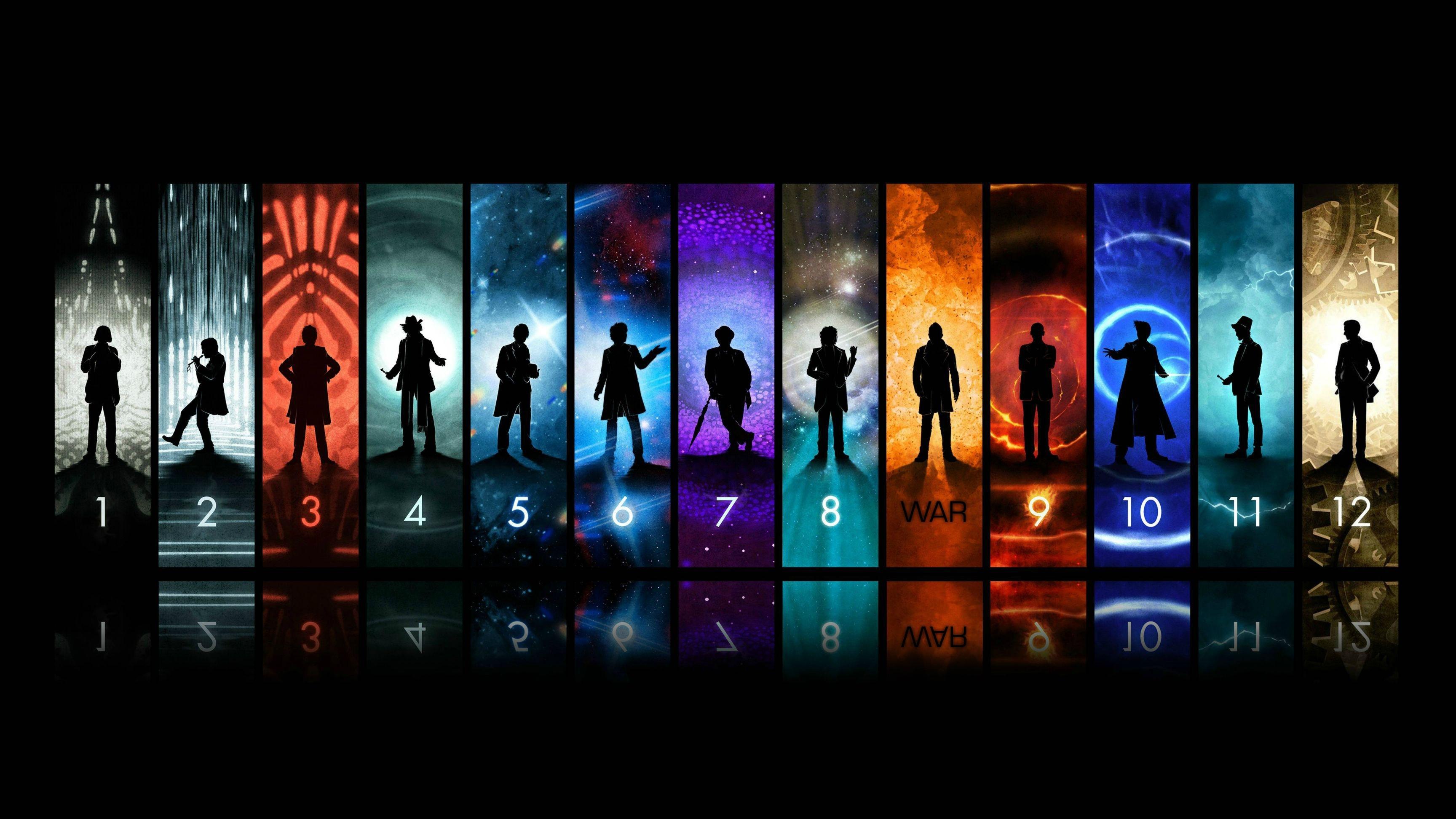 12 doctors - doctor who wallpaper