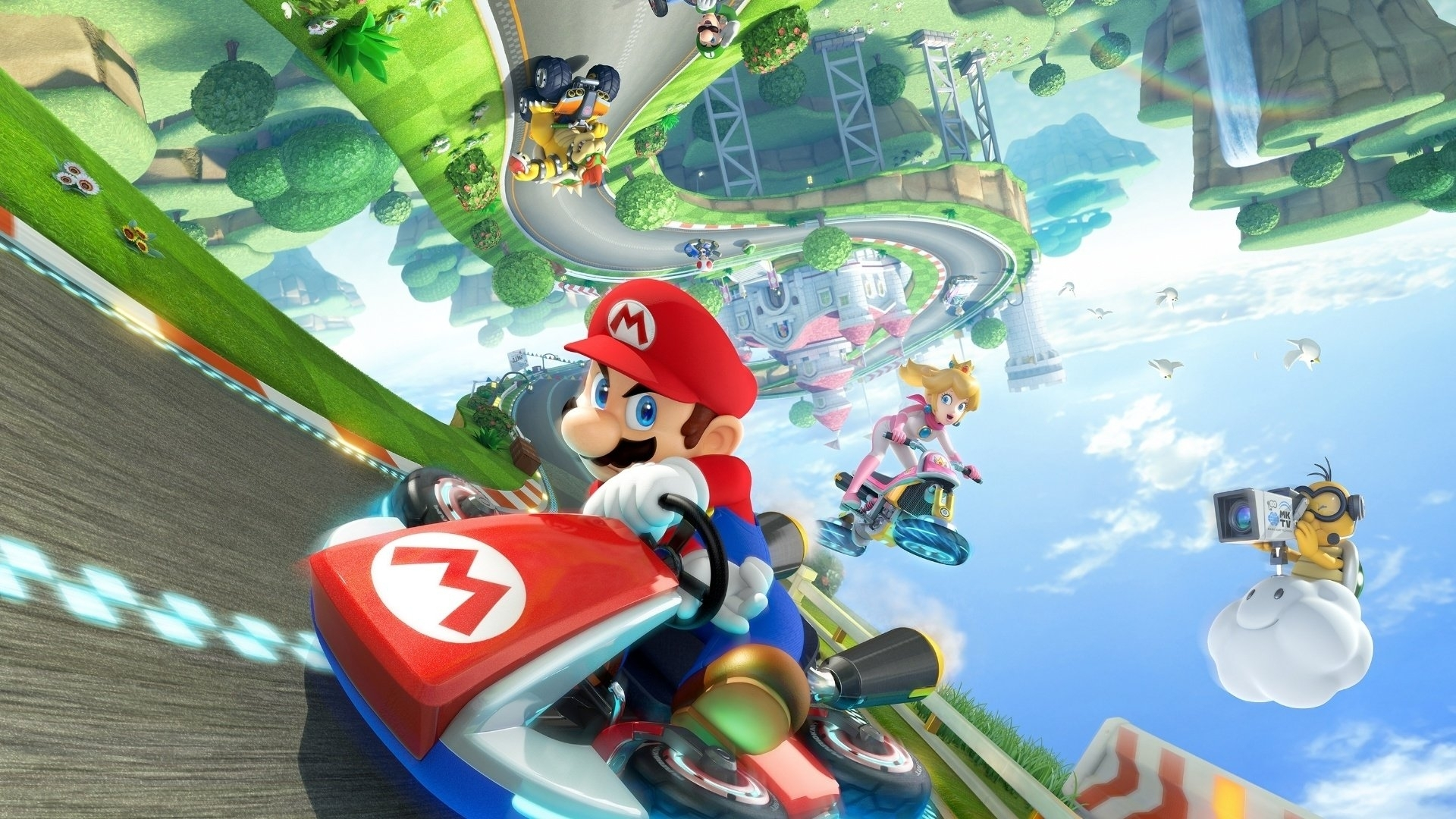 12 mario kart 8 hd wallpapers | background images - wallpaper abyss