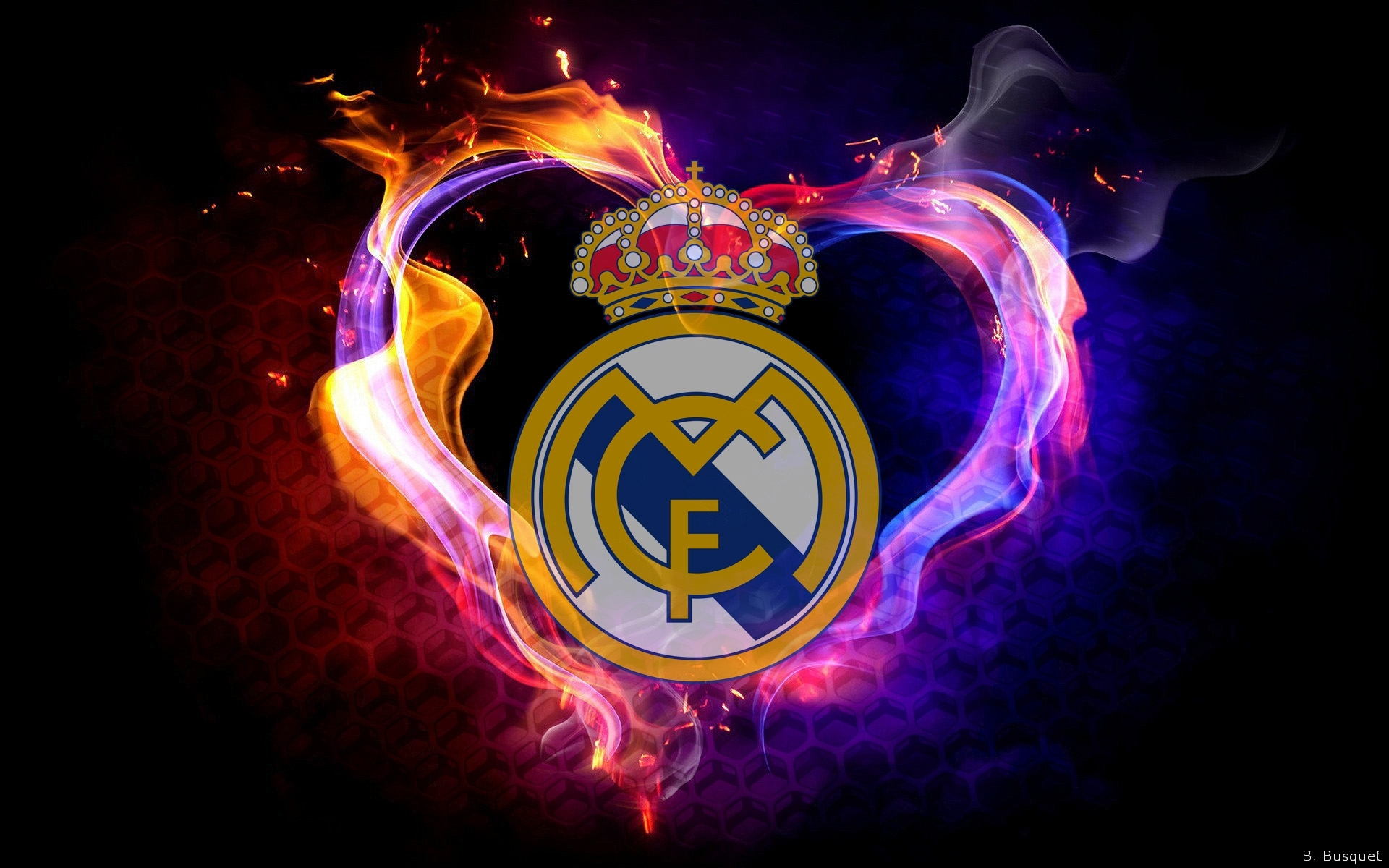 12 real madrid logo hd wallpapers | background images - wallpaper abyss