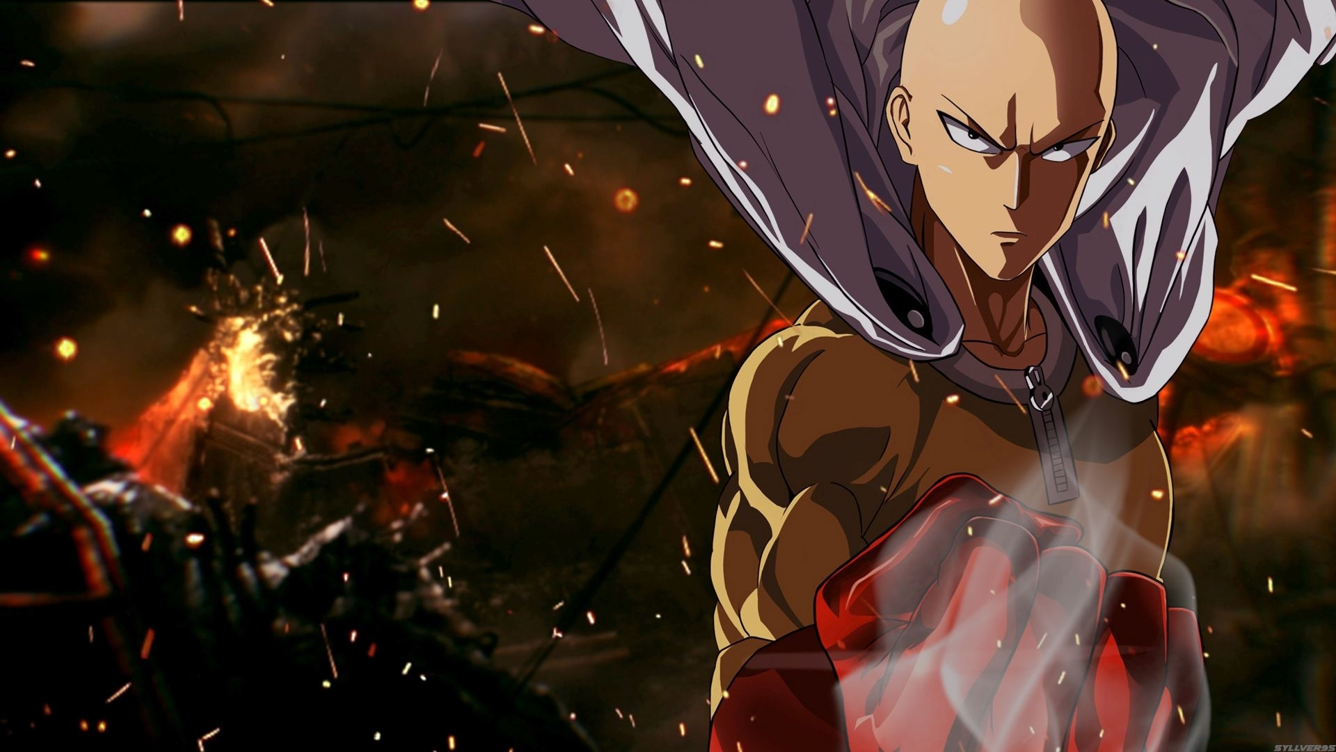 142 saitama (one-punch man) hd wallpapers | backgrounds  | Сomic