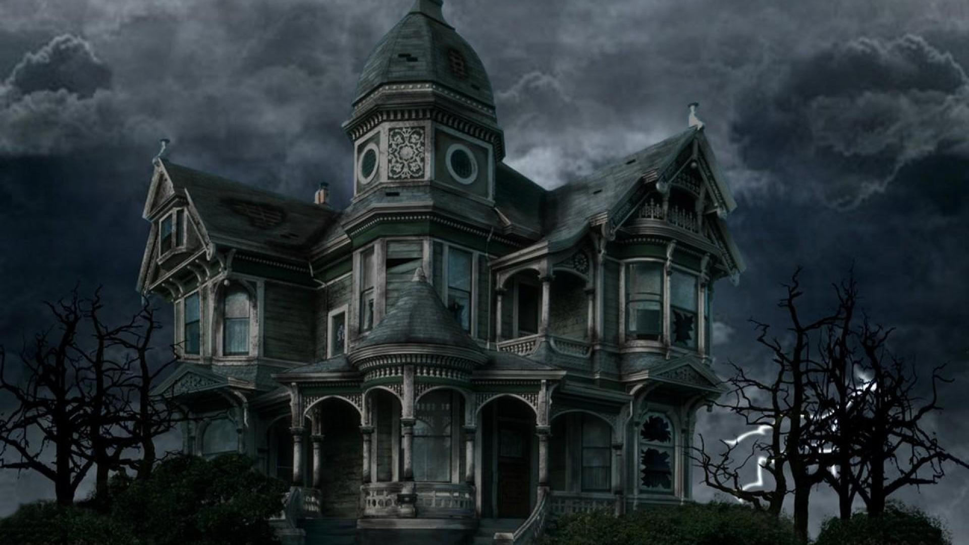 1754 haunted house wallpaper desktop
