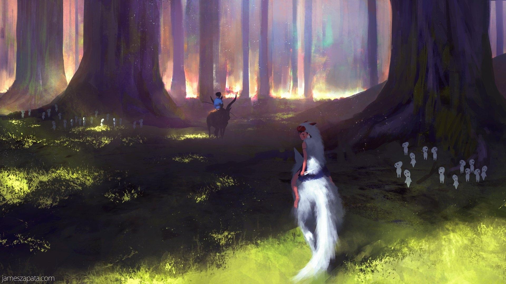 178 princess mononoke hd wallpapers   background images - wallpaper