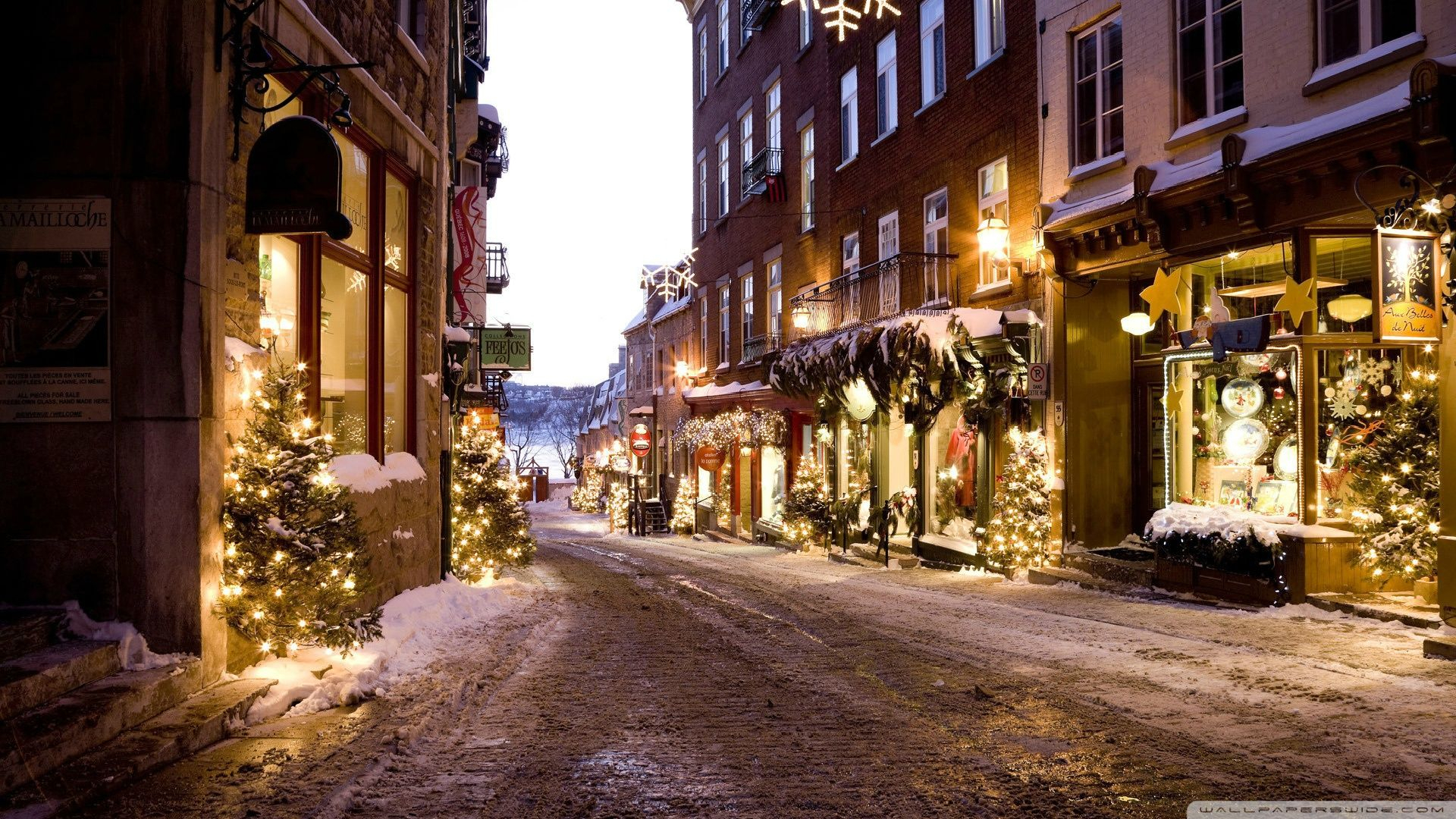 1920x1080 christmas town desktop pc and mac wallpaper | christmas