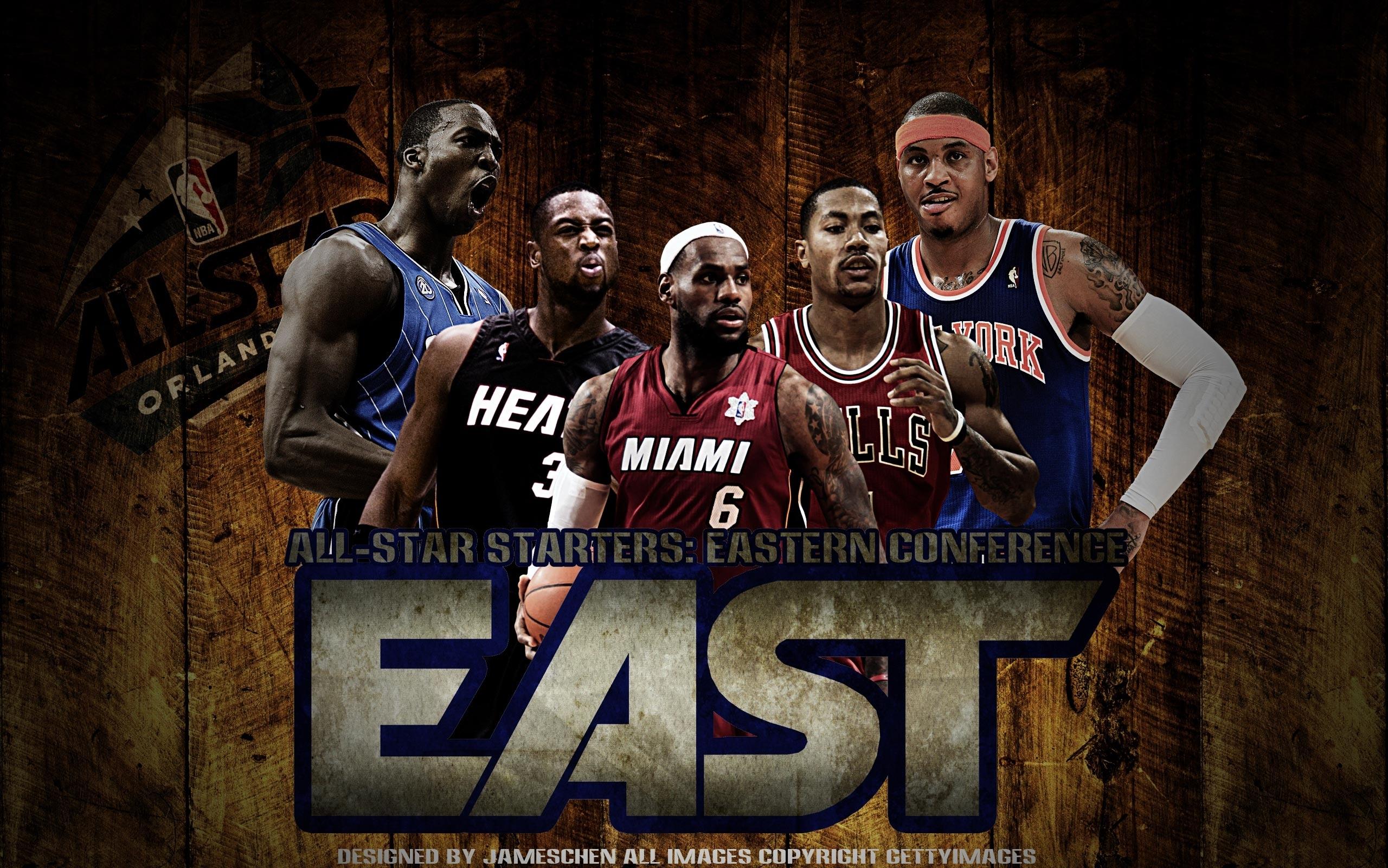 2012 nba all-star east starters 2560×1600 wallpaper | basketball