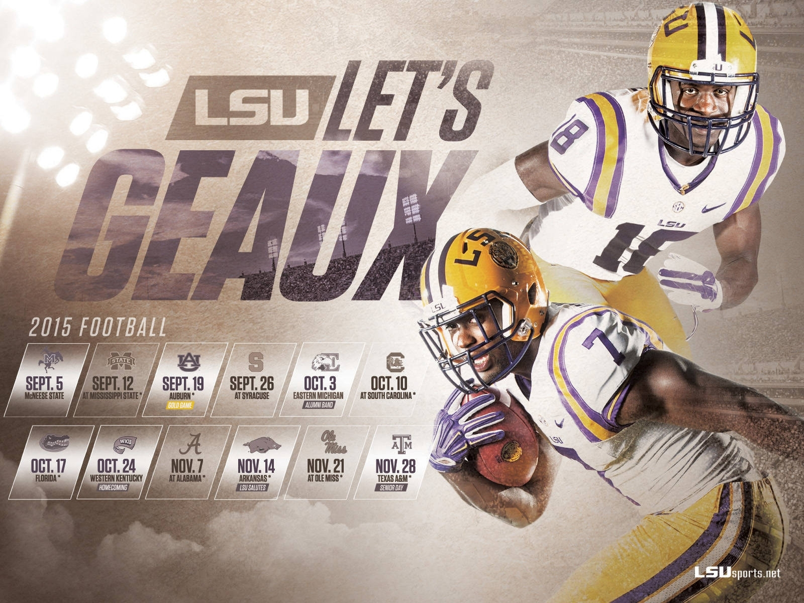 2015-16 lsu athletics wallpapers - lsusports - the official web
