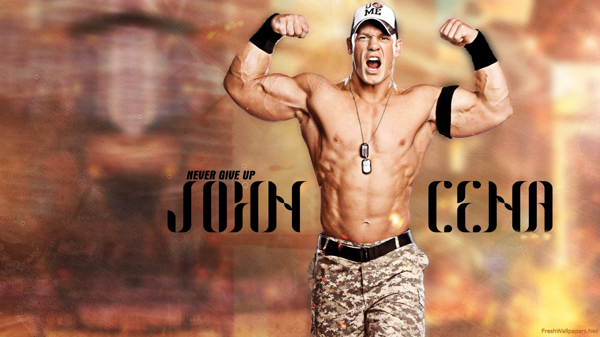 2015 john cena never give up wallpapers | freshwallpapers