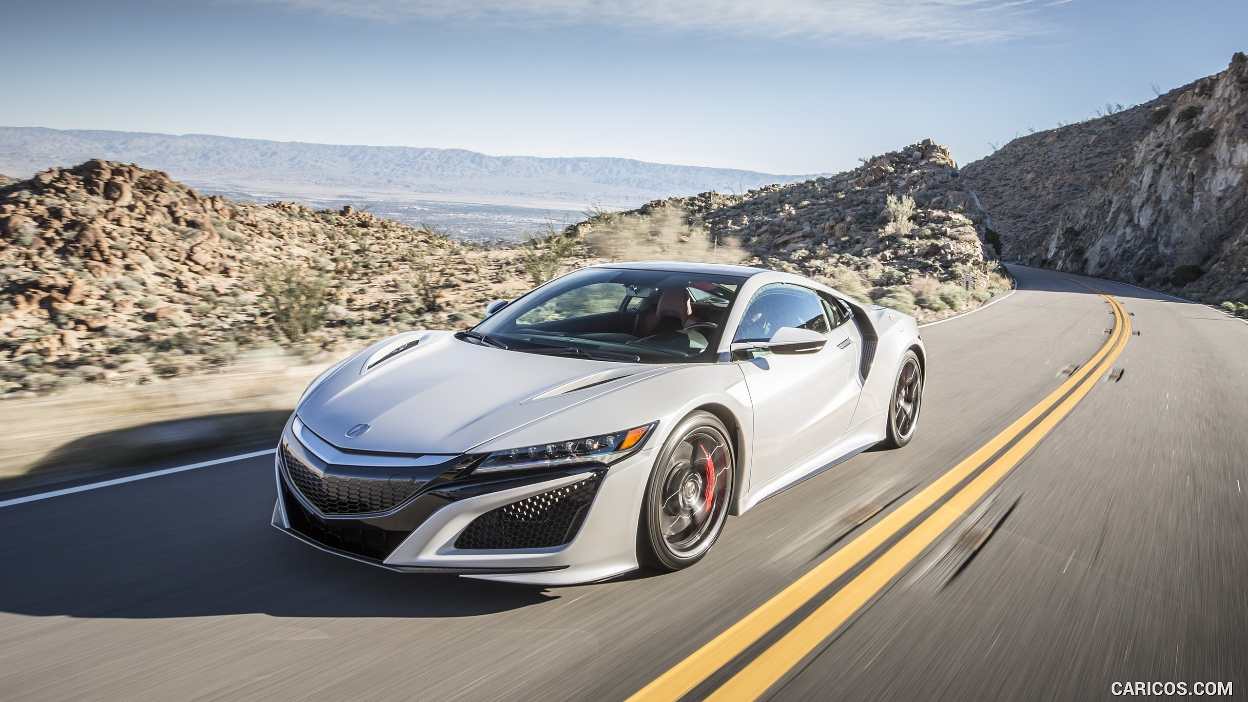 2017 acura nsx white - front | hd wallpaper #3