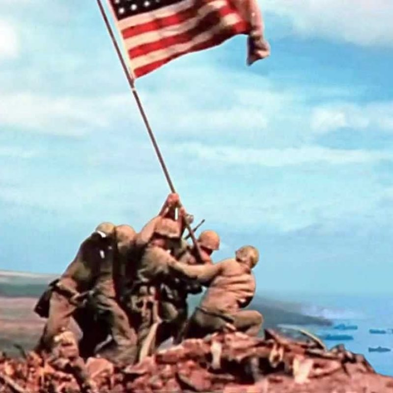 10 Top Raising The Flag On Iwo Jima In Color FULL HD 1080p For PC Desktop 2021 free download 2nd flag iwo jima youtube 1 800x800