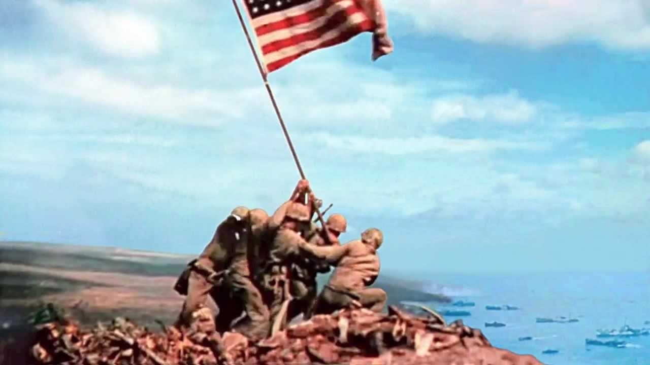 2nd flag iwo jima - youtube