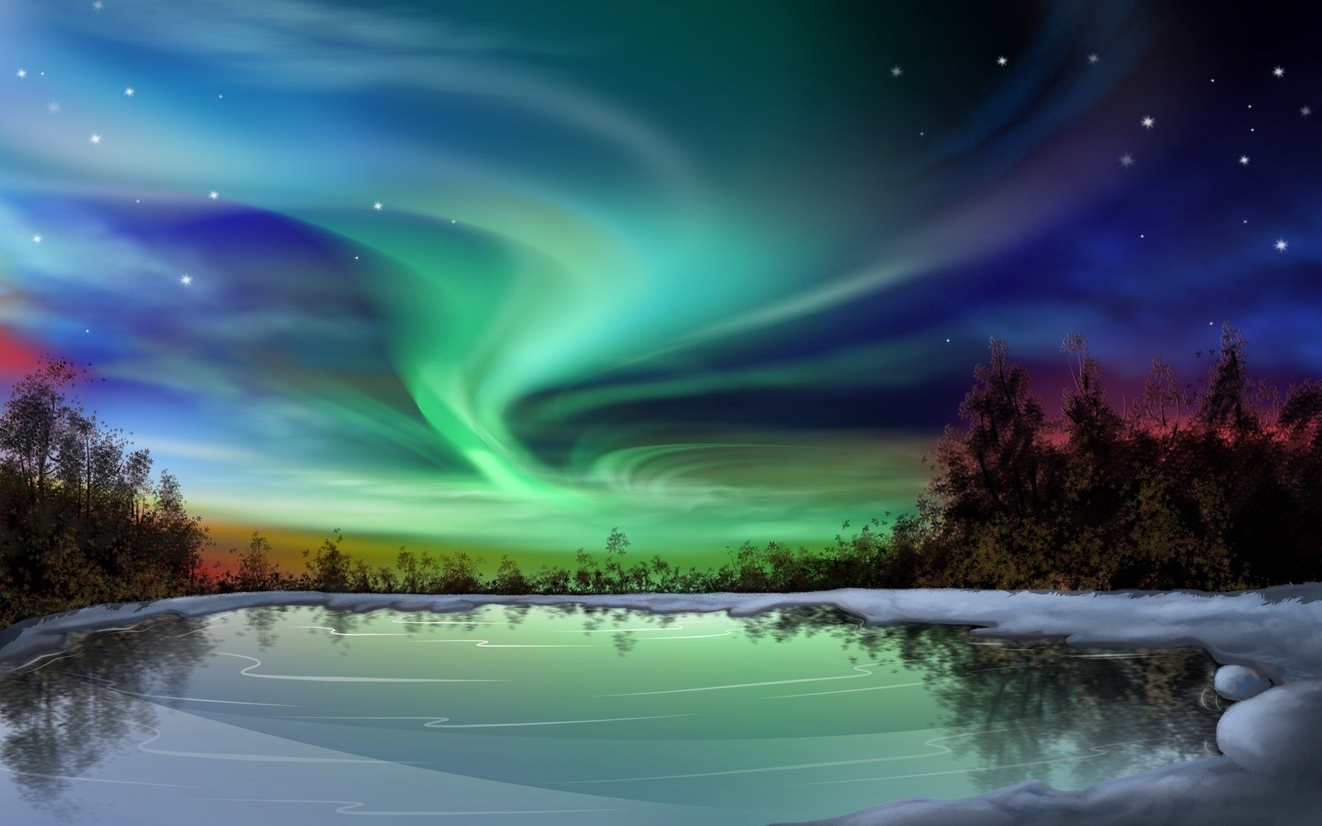 318 aurora borealis hd wallpapers | background images - wallpaper abyss