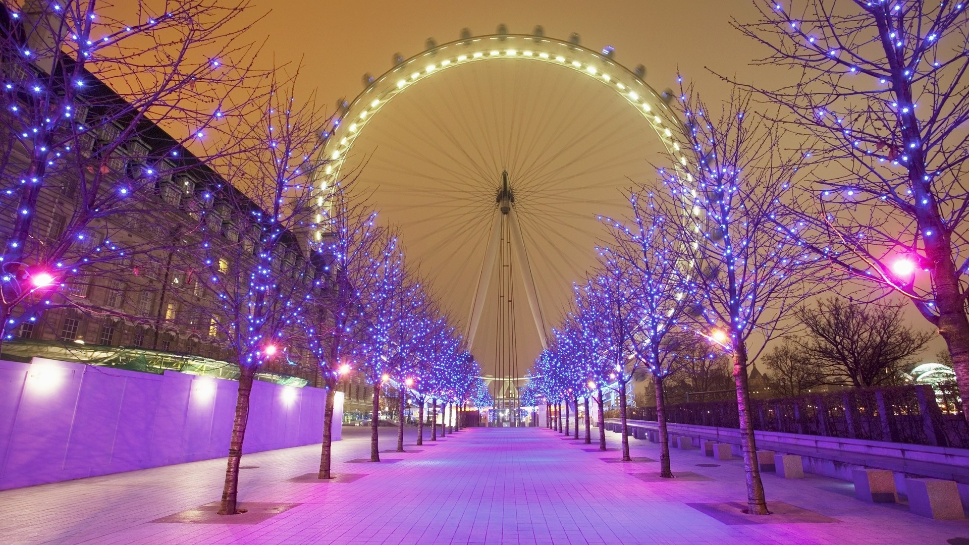 3480) christmas lights hd widescreen wallpaper - walops