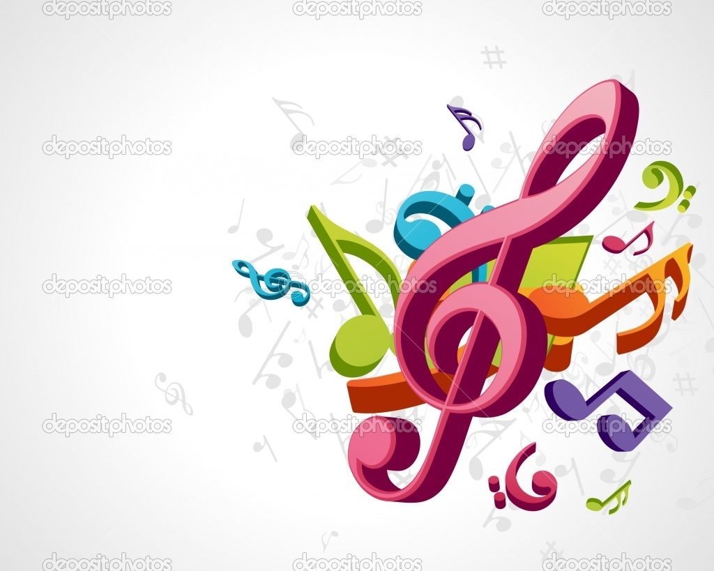 3d colorful music notes wallpaper | clipart panda - free clipart images