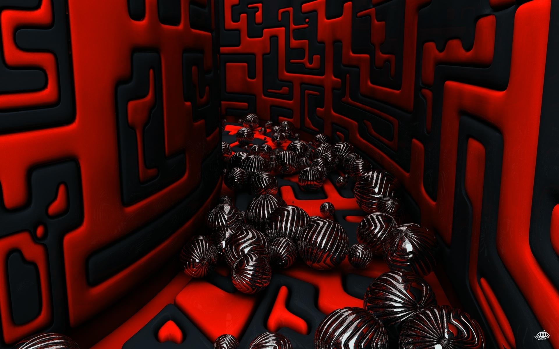 3d red black spheres hd widescreen desktop wallpaper | ideas for the