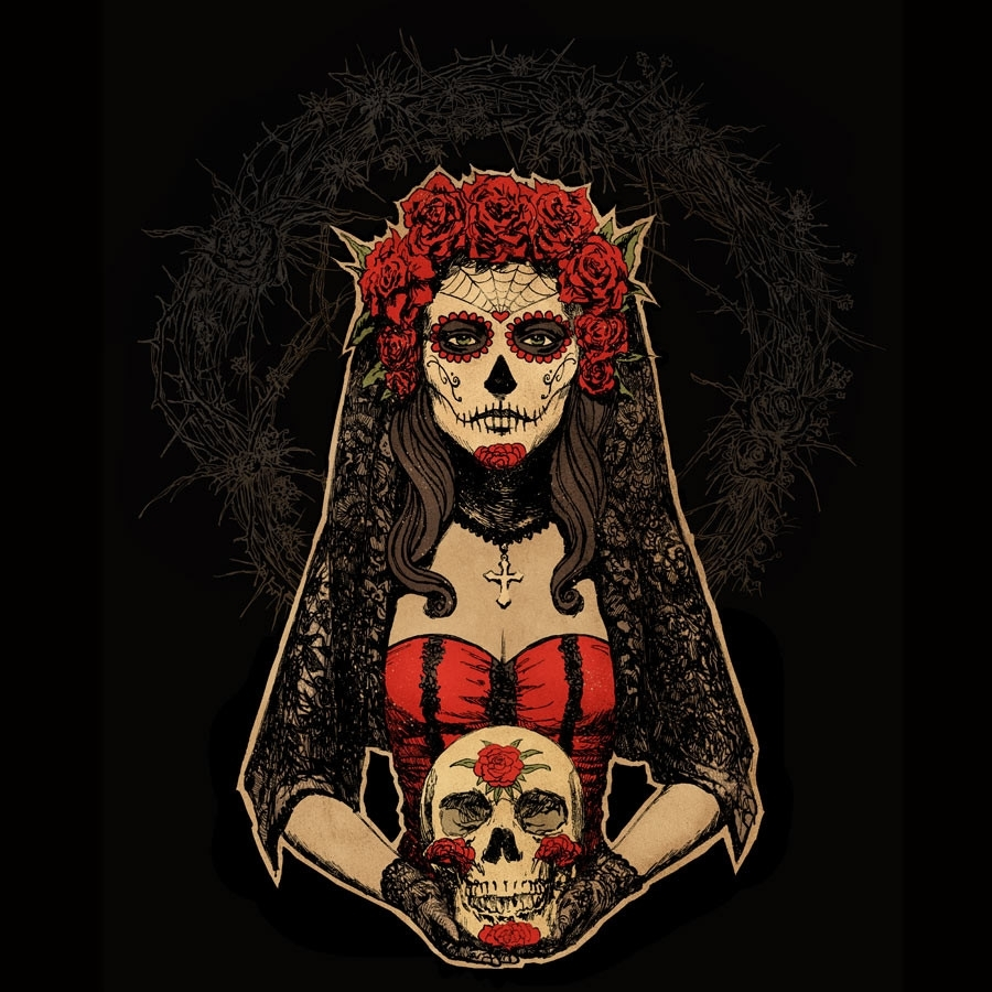 45+ day of the dead wallpapers