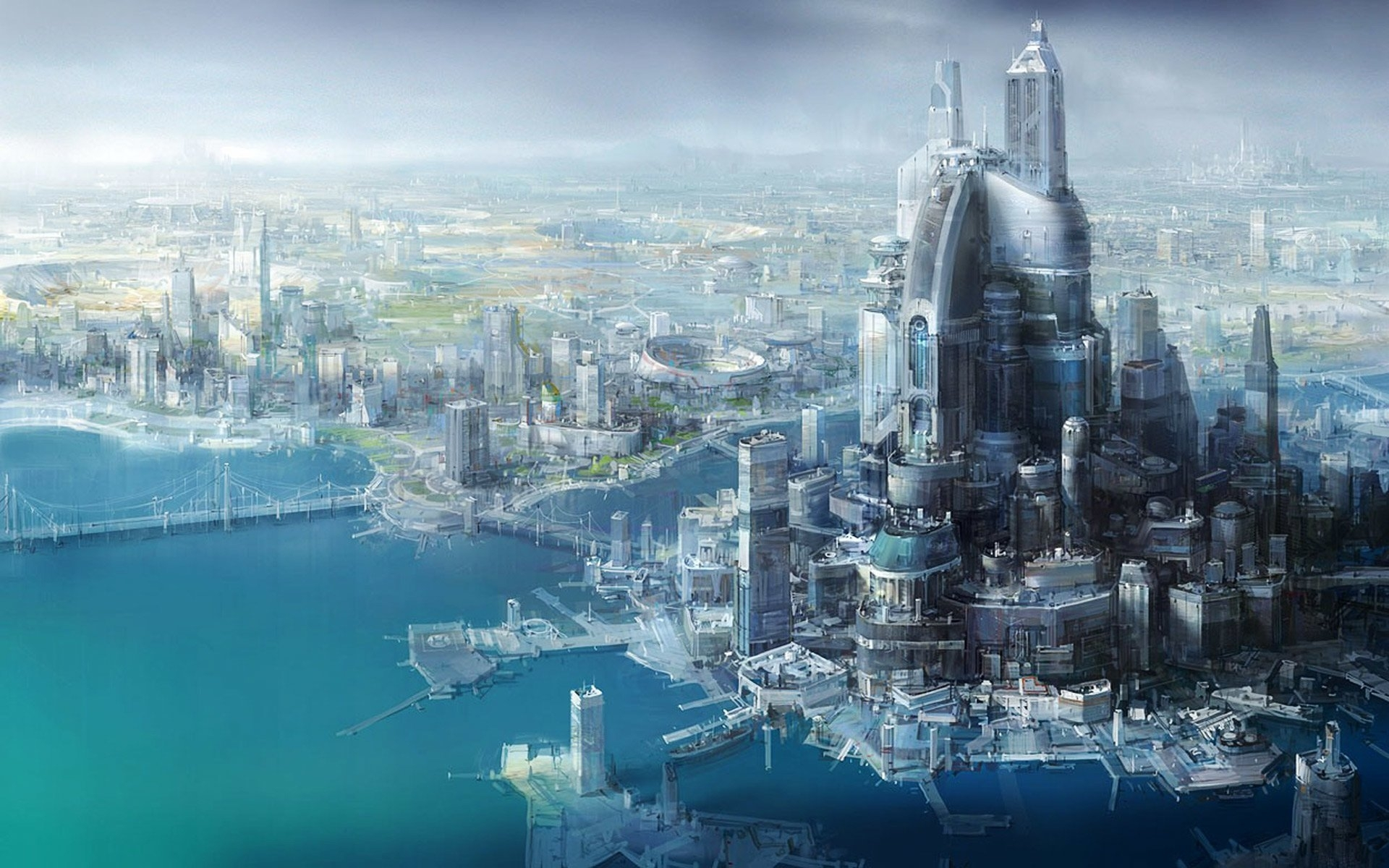 47 futuristic city hd wallpapers | background images - wallpaper abyss