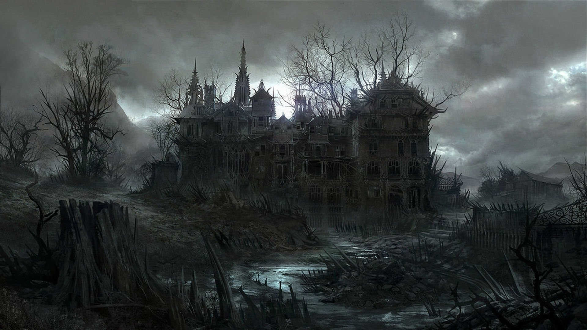 48+ haunted house wallpapers