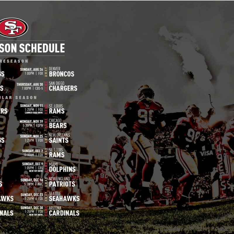 10 New 49Ers 2017 Schedule Wallpaper FULL HD 1920×1080 For PC Background 2018 free download 49er wallpaper impremedia 800x800