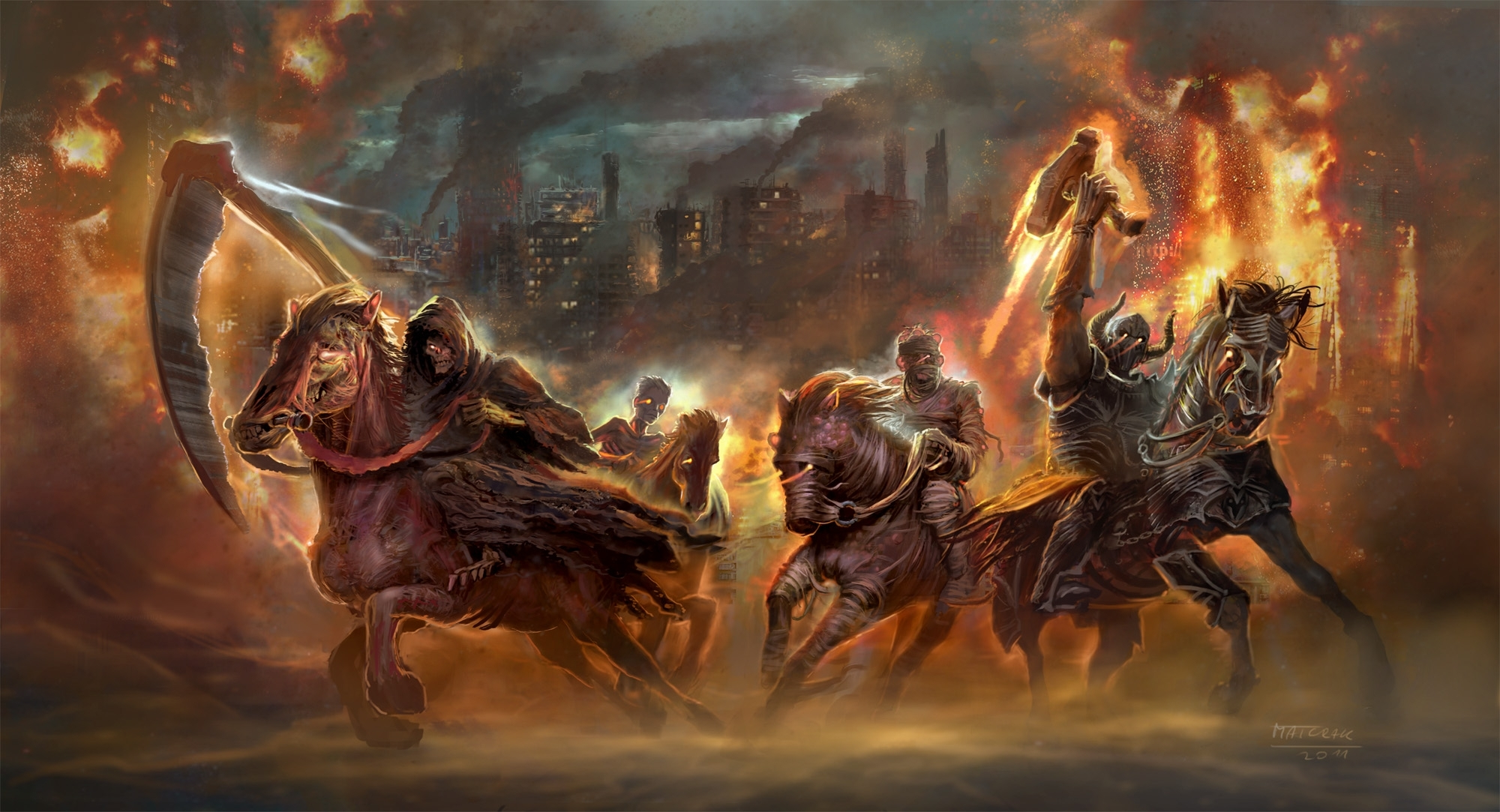 6 four horsemen of the apocalypse hd wallpapers | background images