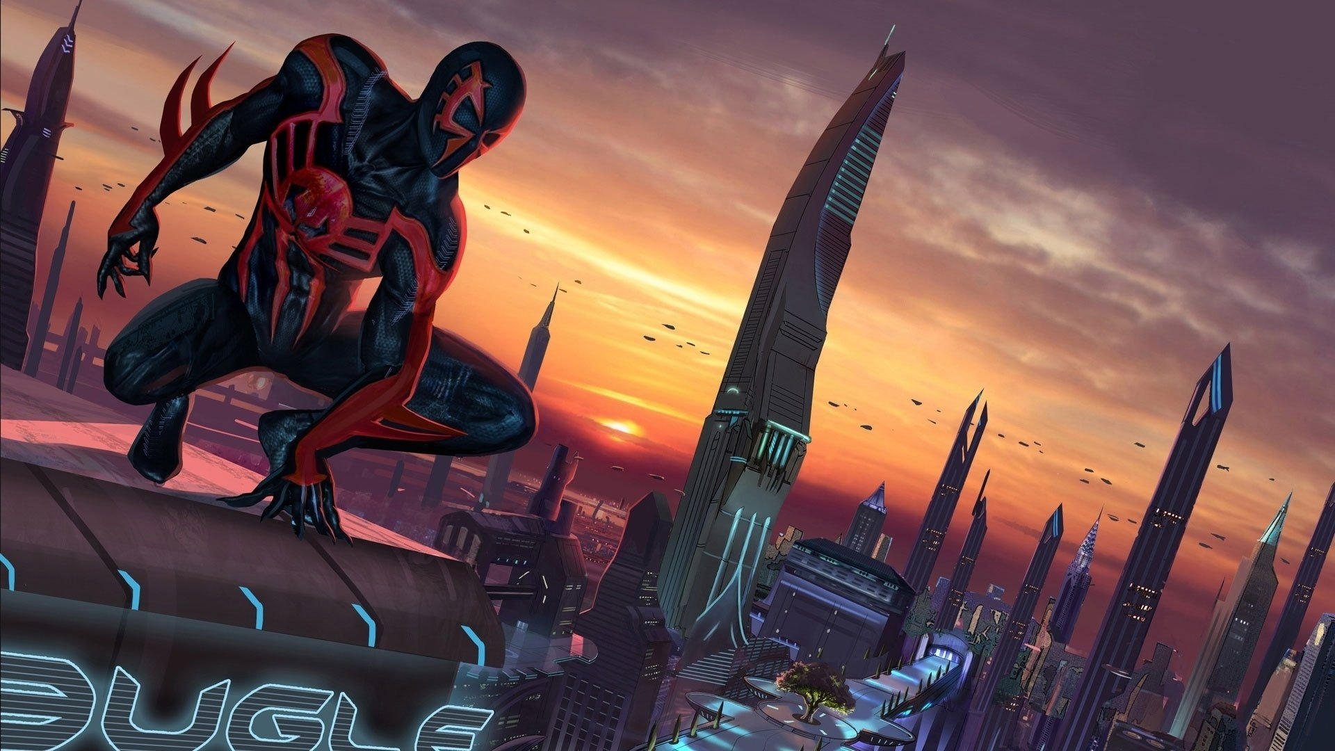 6 spider-man 2099 hd wallpapers | background images - wallpaper abyss