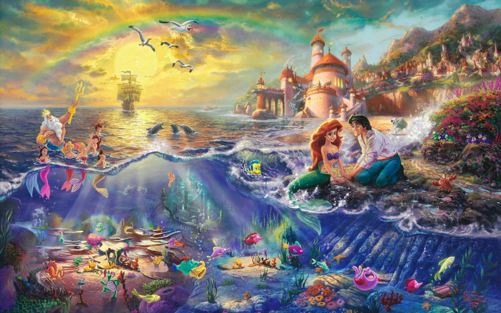 60 the little mermaid hd wallpapers | background images - wallpaper