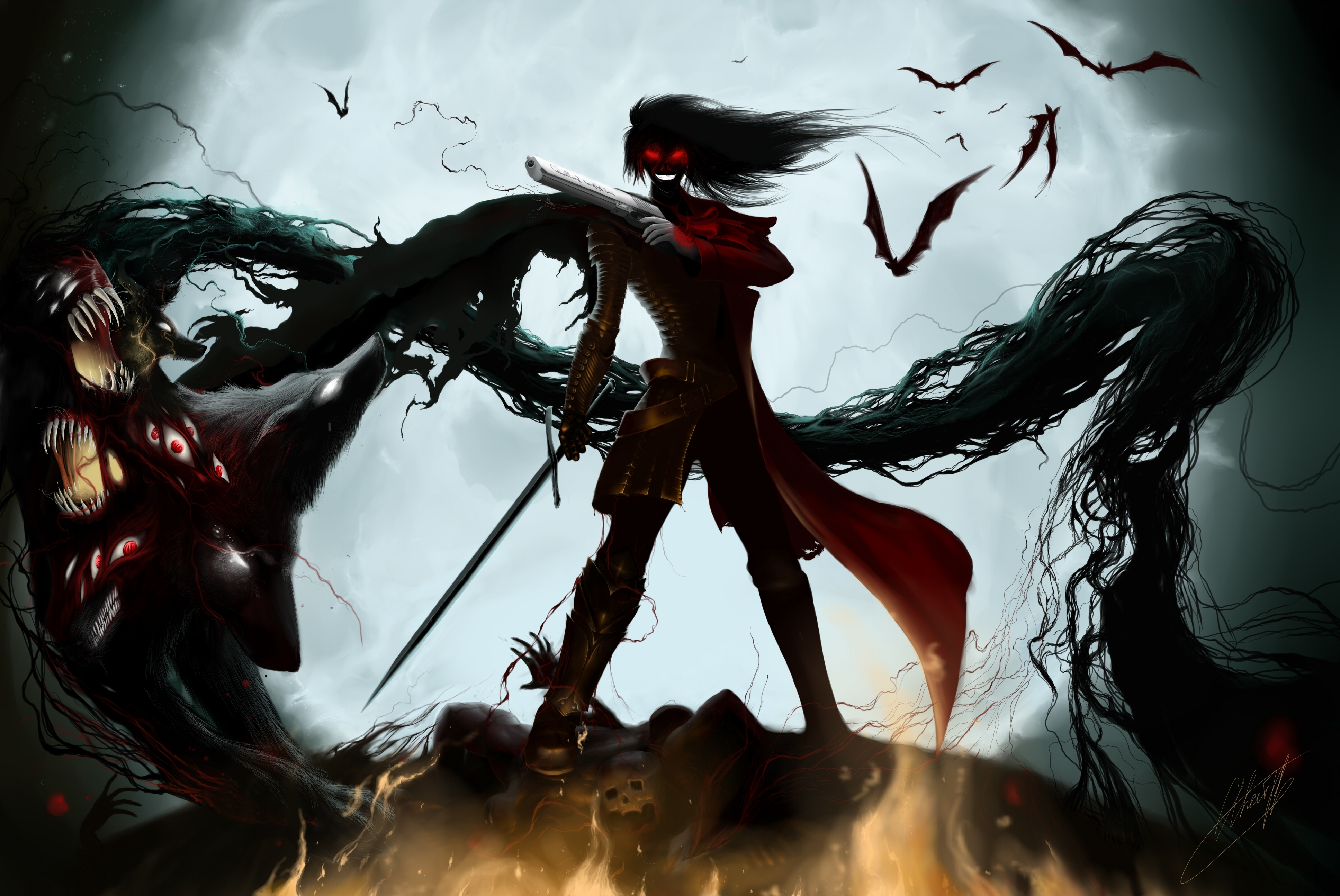 600 hellsing hd wallpapers | background images - wallpaper abyss