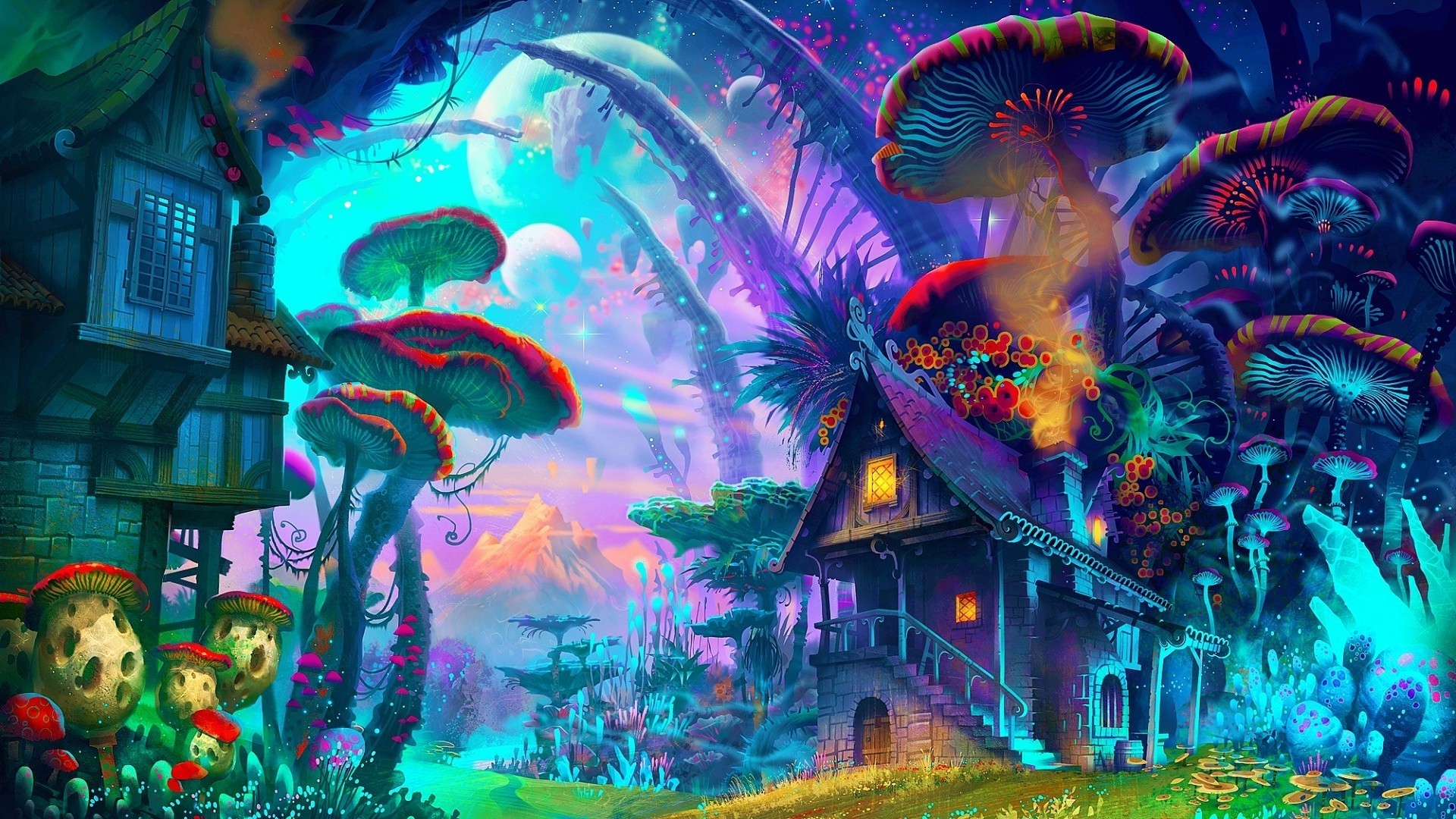 62+ trippy mushroom wallpapers on wallpaperplay