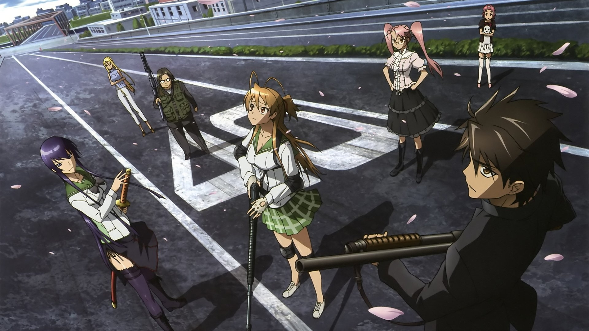 69 highschool of the dead hd wallpapers | background images