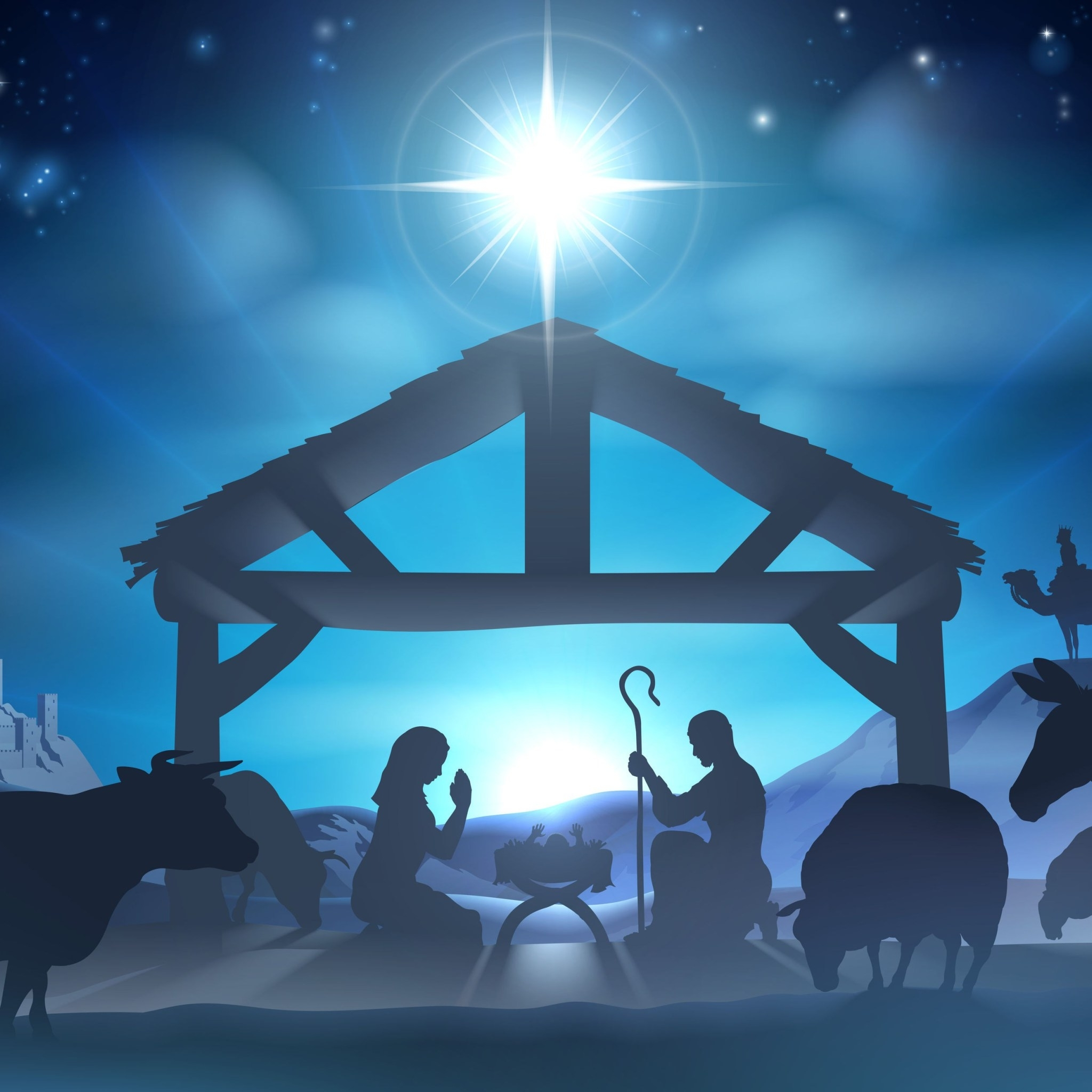 719 nativity scene wallpaper