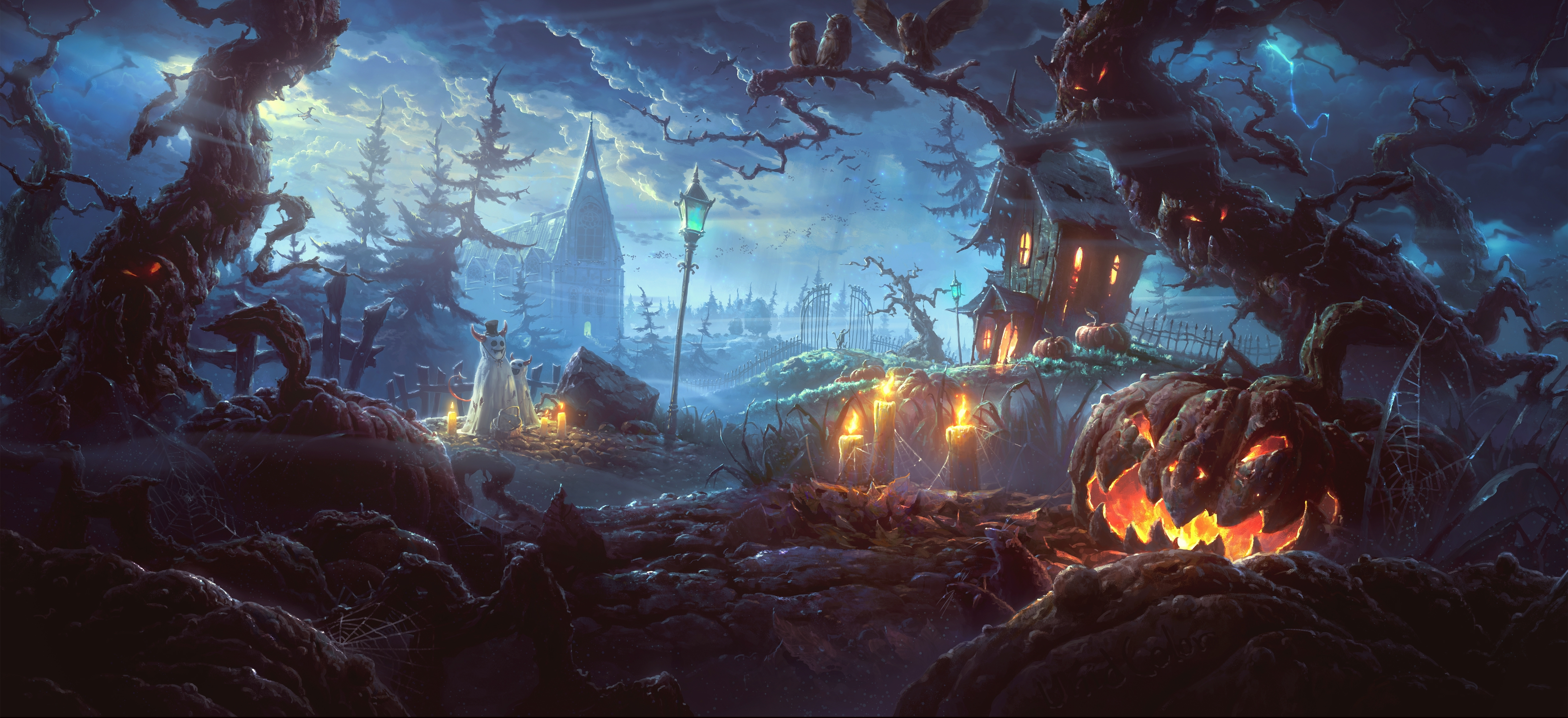796 halloween hd wallpapers | background images - wallpaper abyss