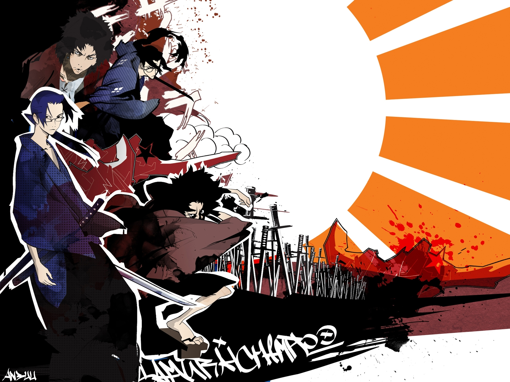84 samurai champloo hd wallpapers | background images - wallpaper abyss