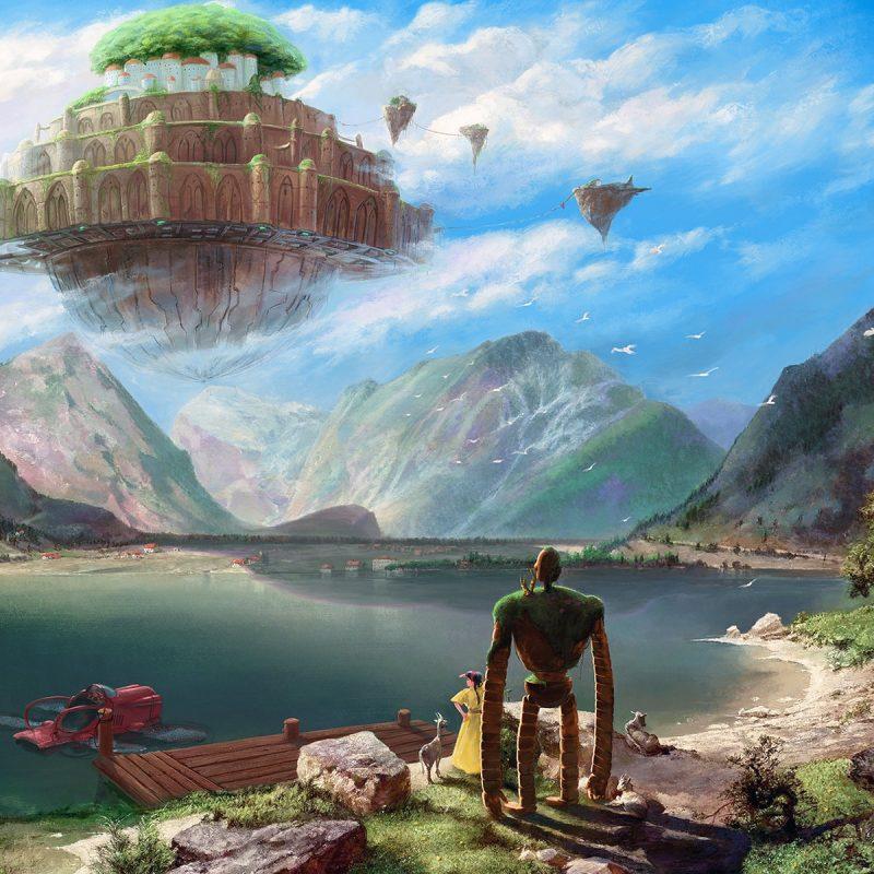 10 Top Castle In The Sky Wallpaper FULL HD 1920×1080 For PC Desktop 2021 free download 92 le chateau dans le ciel fonds decran hd arriere plans 800x800