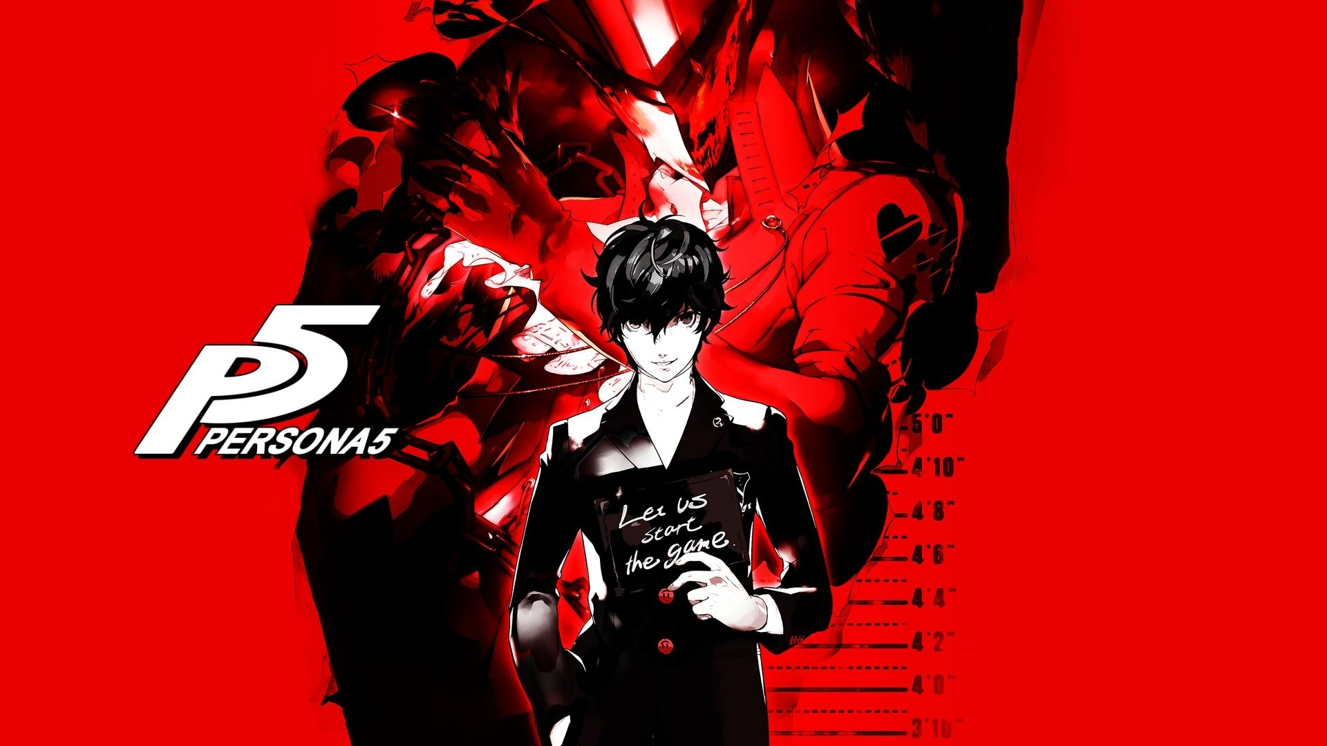 a 1920x1080 persona 5 wallpaper (full-screen capture taken from the