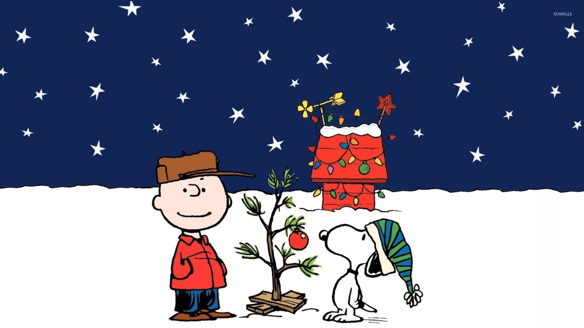 a charlie brown christmas wallpaper - cartoon wallpapers - #16795