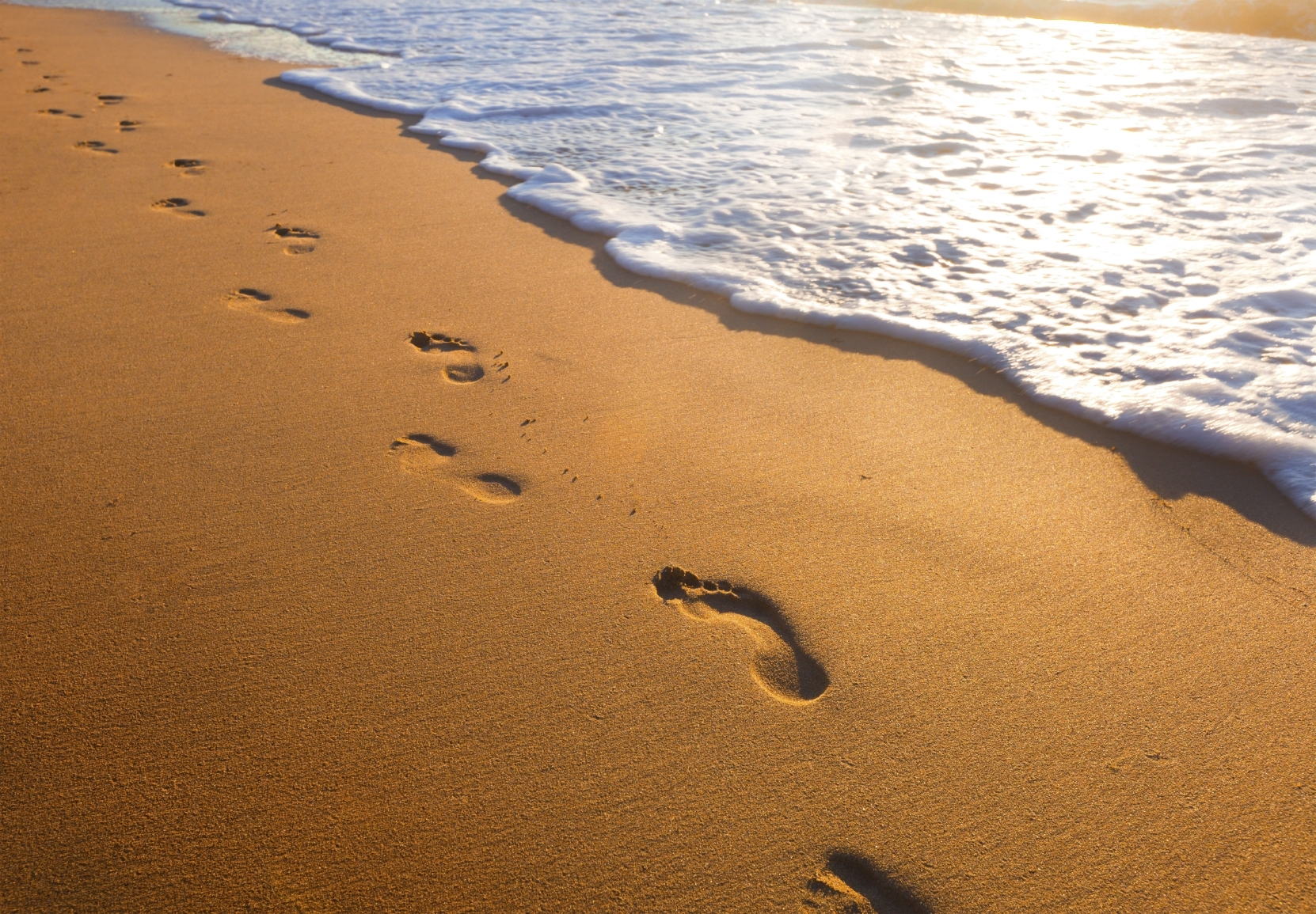 a new take on the old poem, footprints in the sand faith radio