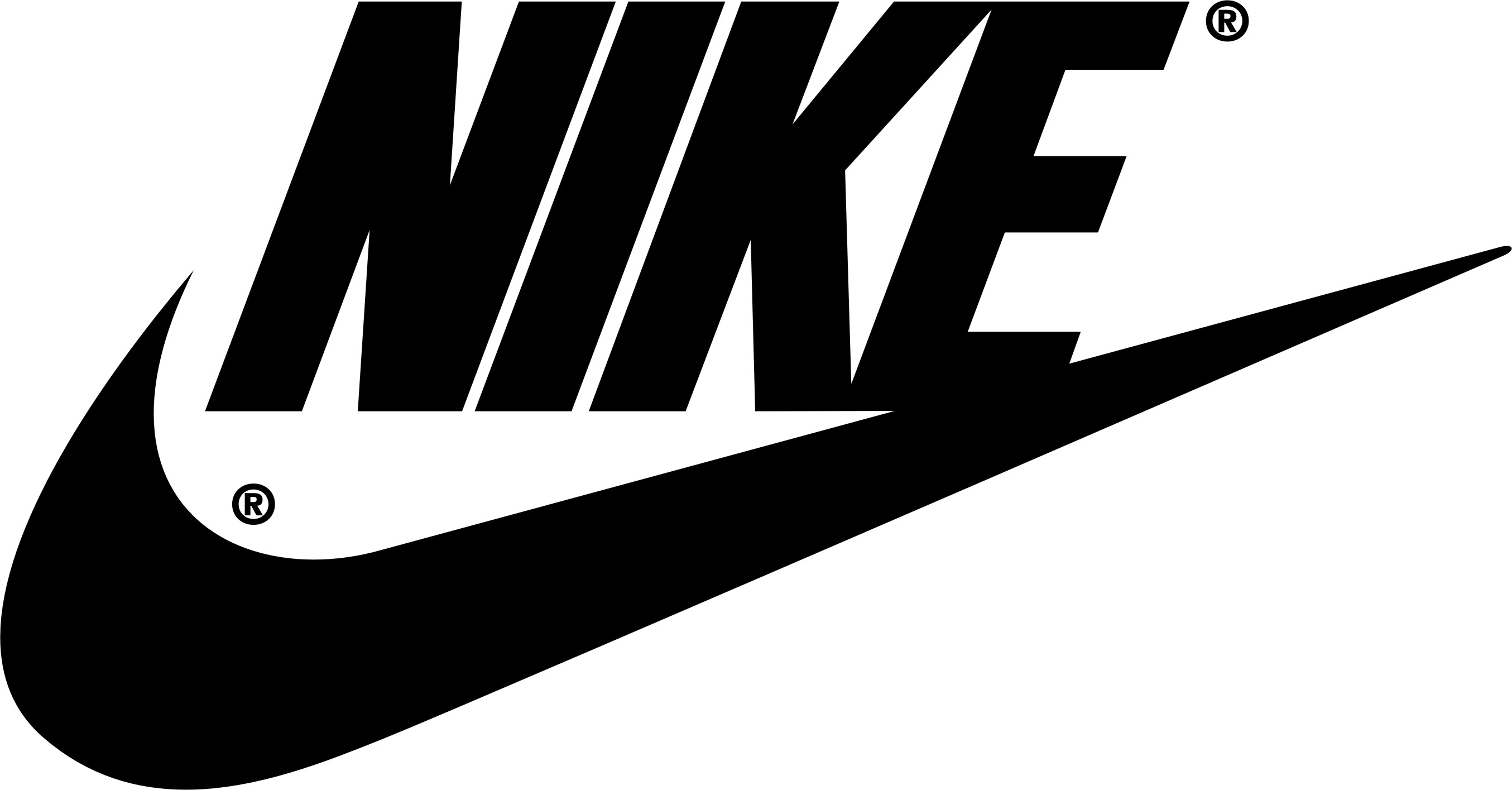 a nike sign,