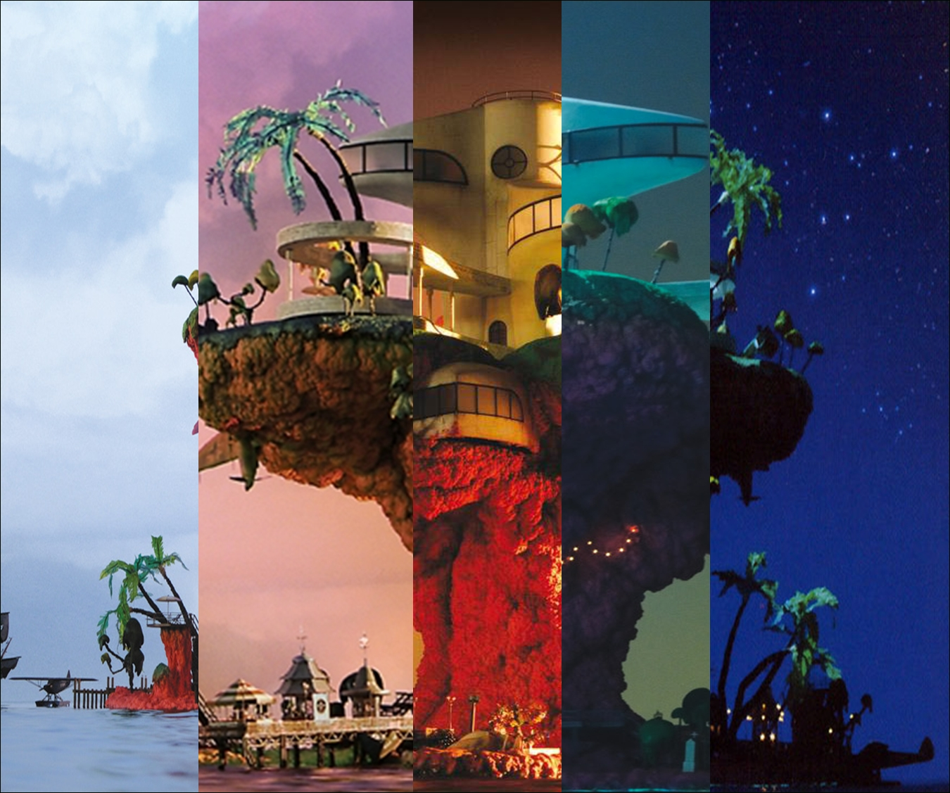 a plastic beach wallpaper from gorillaz, no credits because this pic