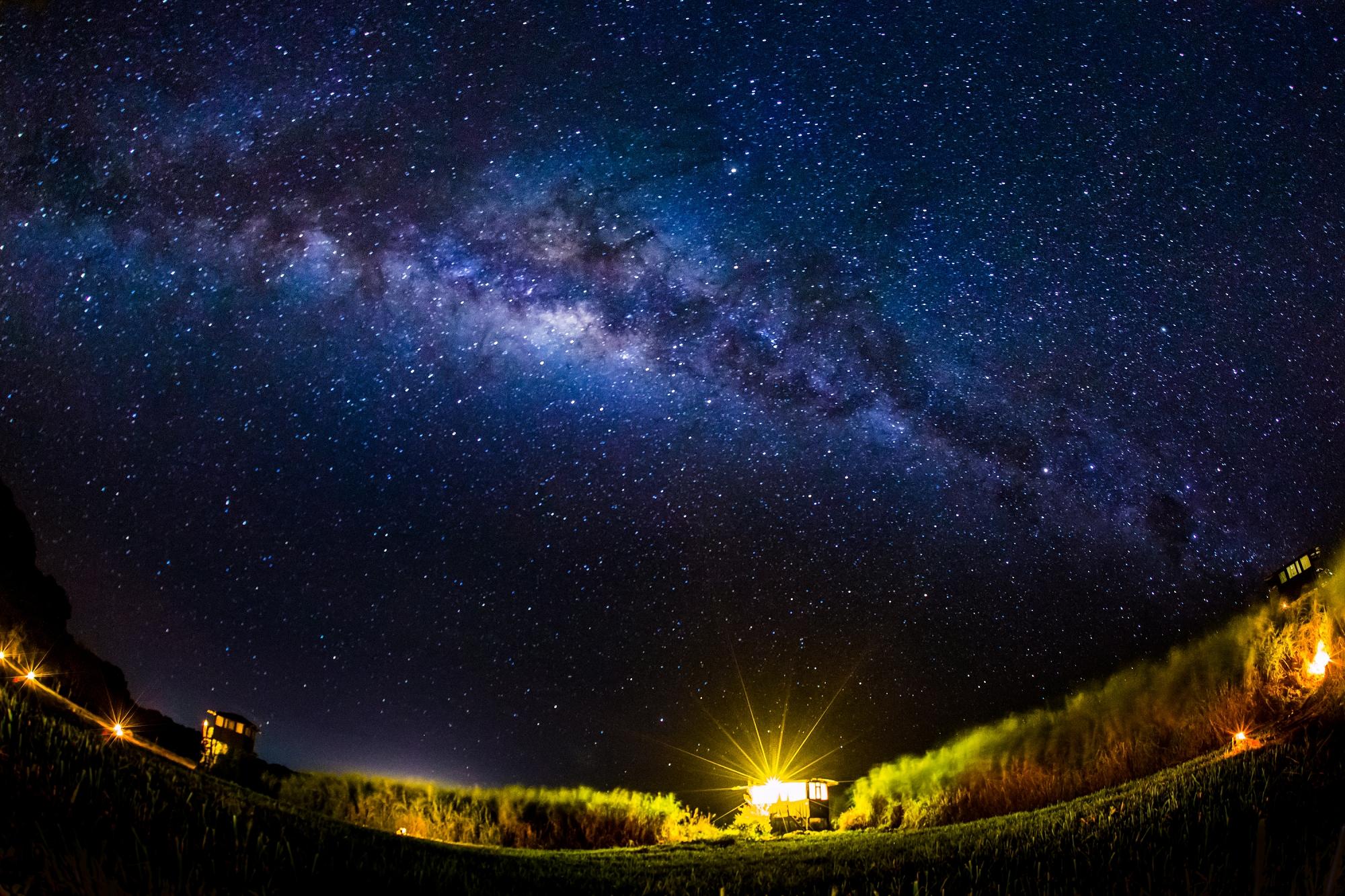 a sneak peek at the galapagos at night
