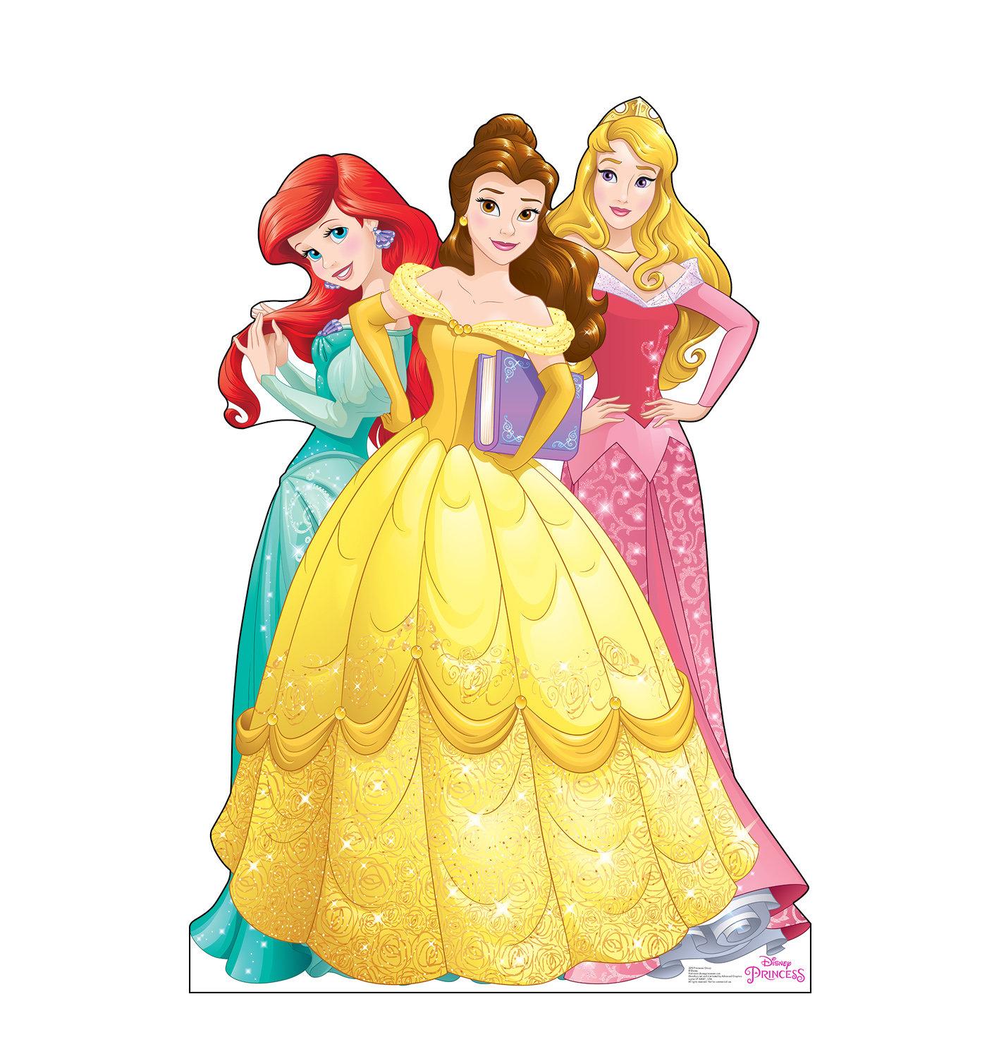 advanced graphics disney princess group -ariel, belle and aurora