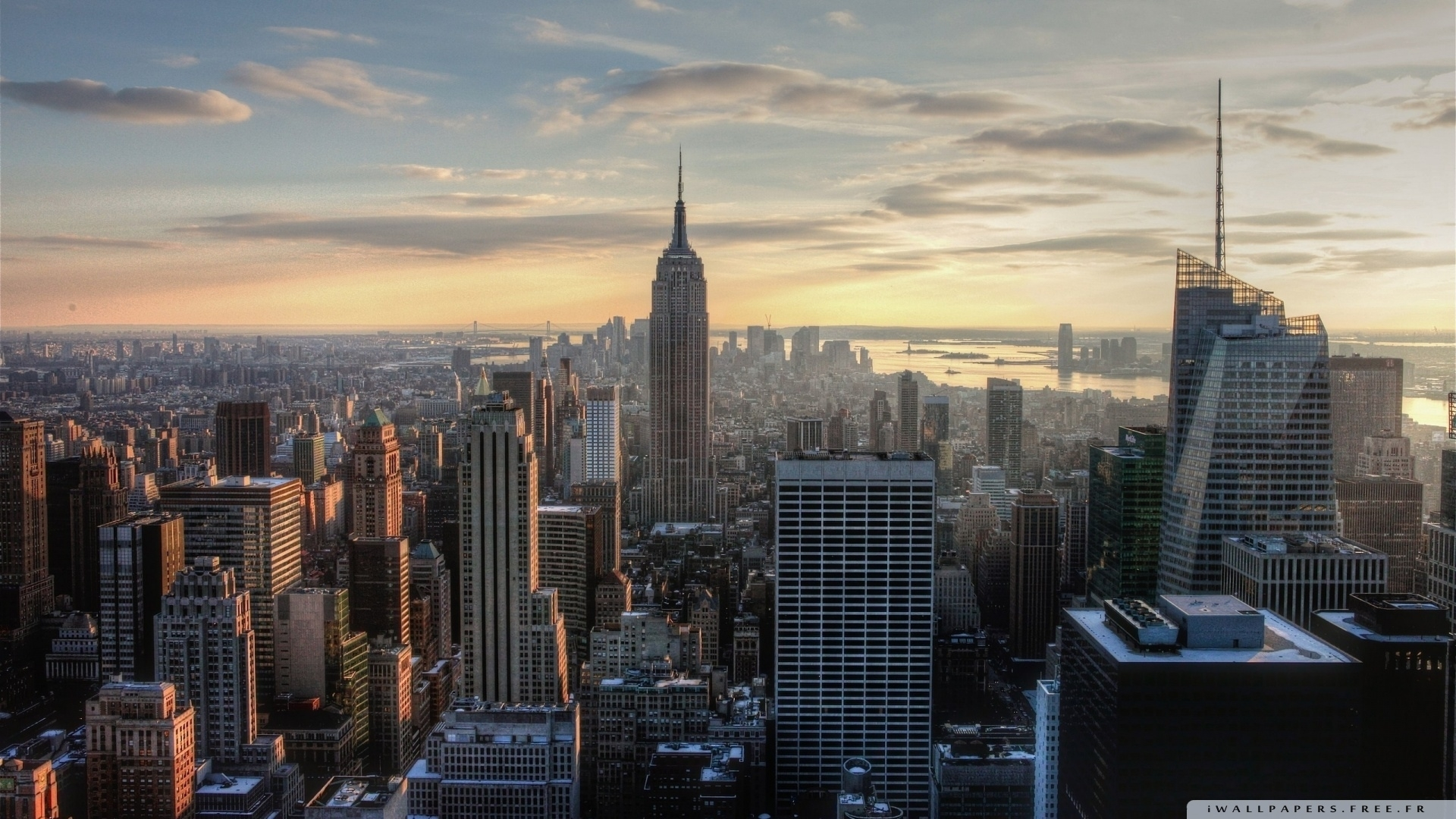 aerial view of empire state building-wallpaper-1920x1080 - 10 000