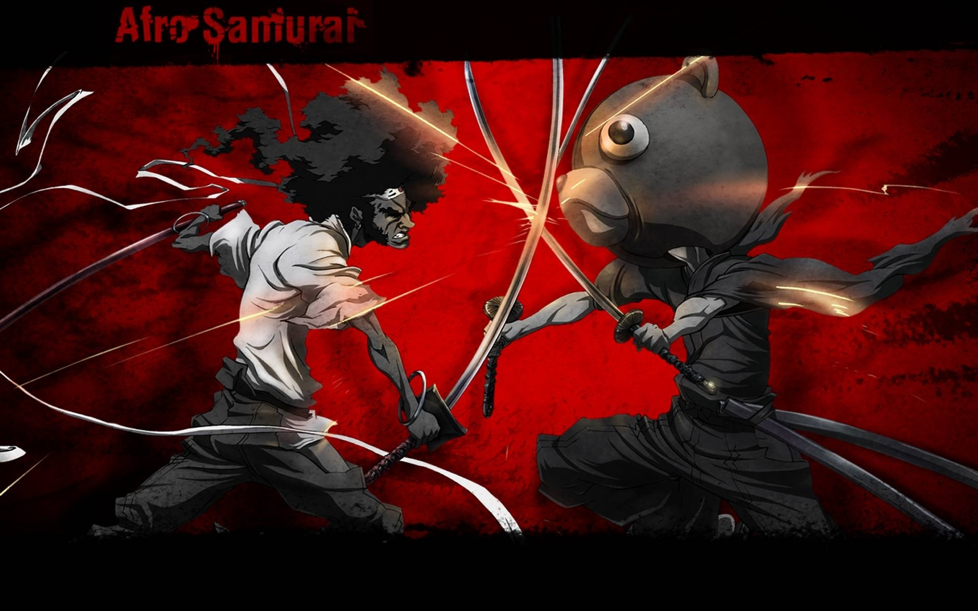 afro samurai cartoon hd image wallpaper for ipad - cartoons wallpapers