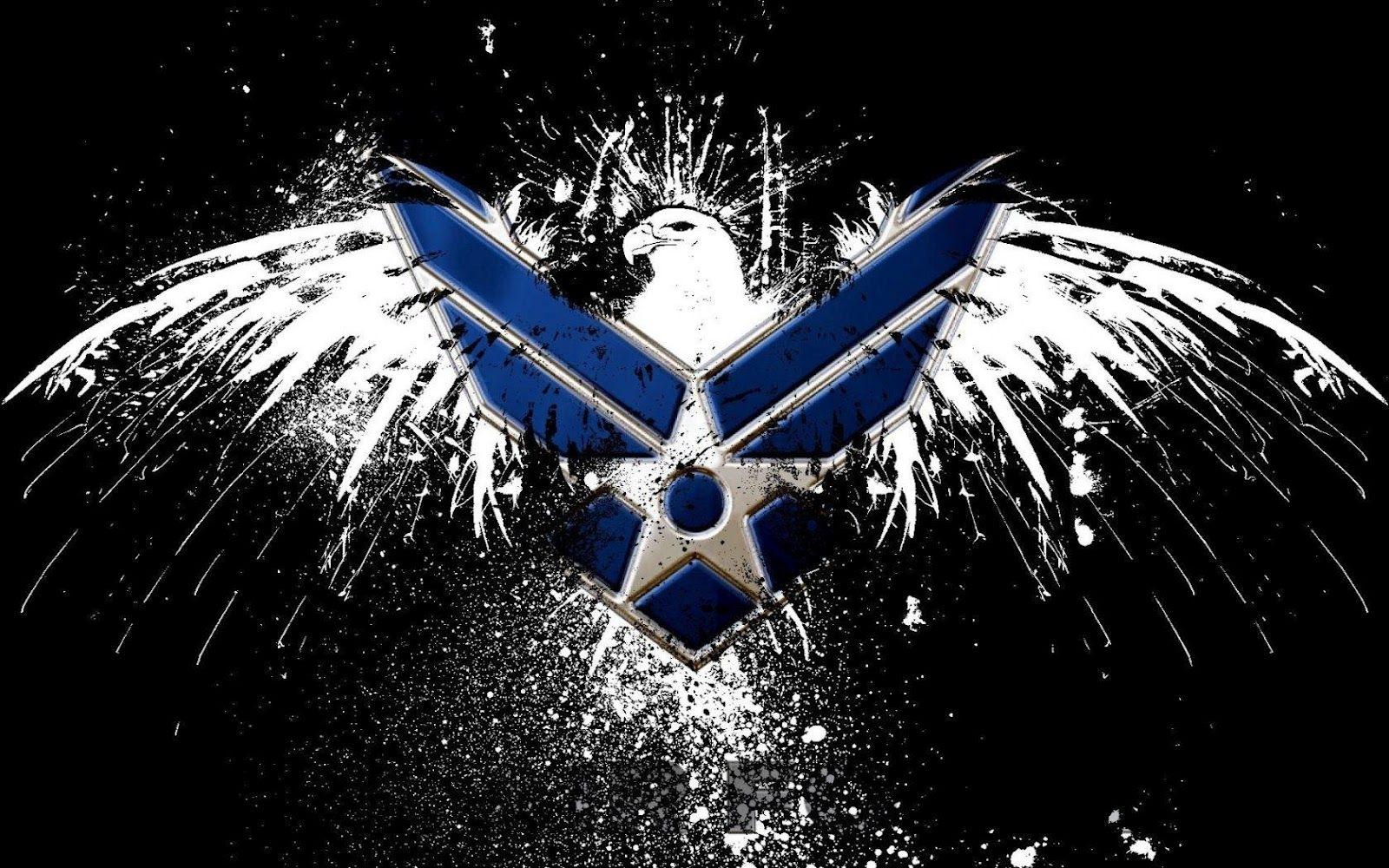 air force logo hd wallpaper | slwallpapers | patriotic artwork