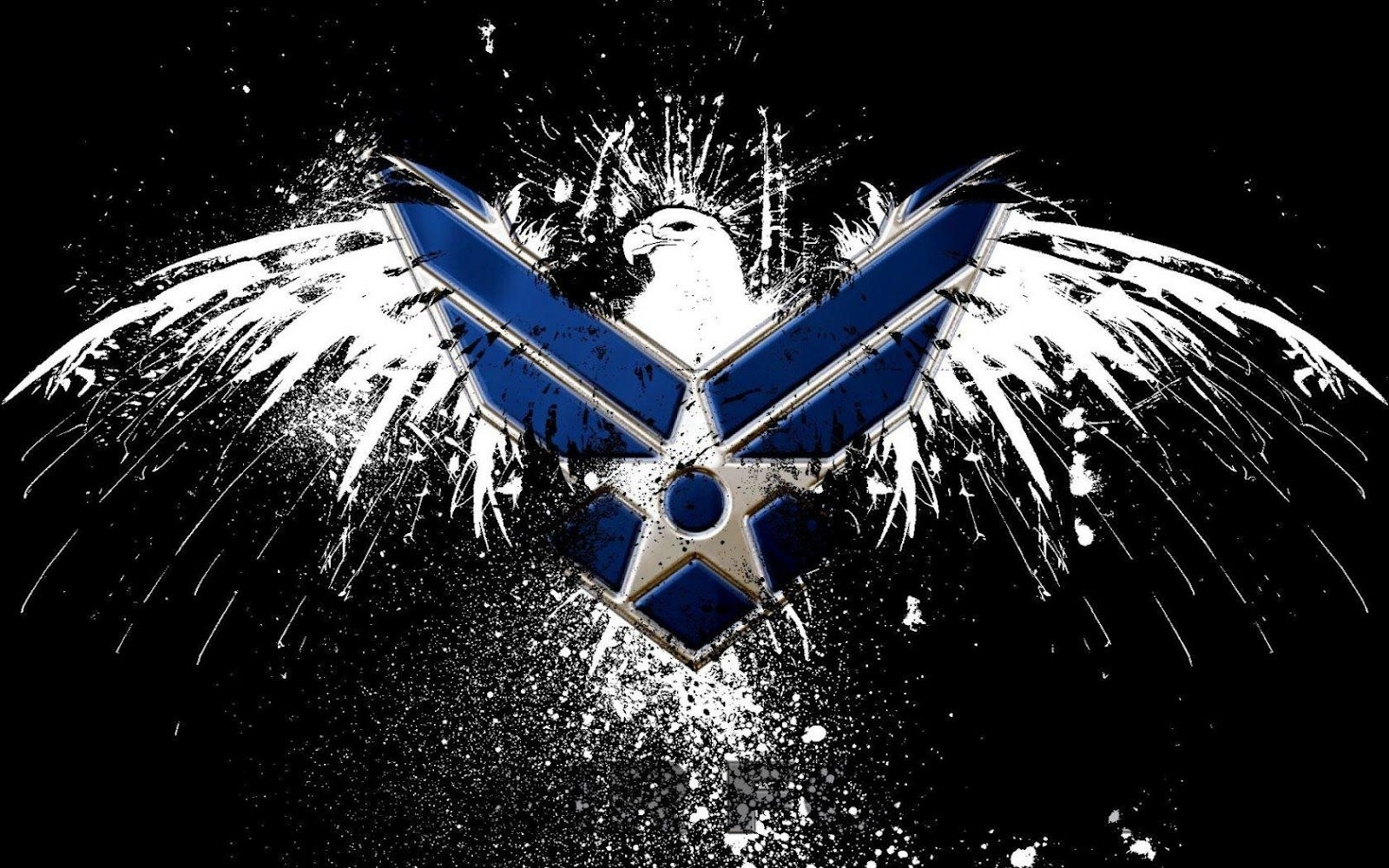 air force logo hd wallpaper | slwallpapers | patriotic artwork