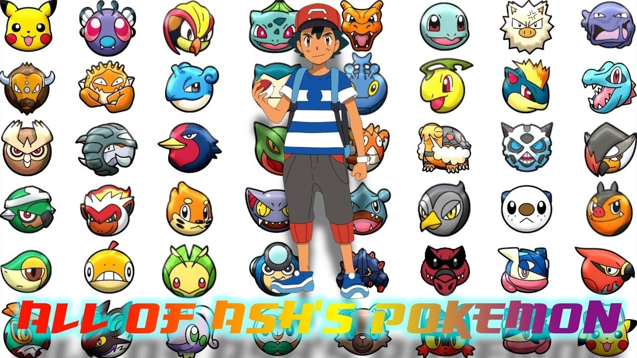all of ash's pokemon - youtube