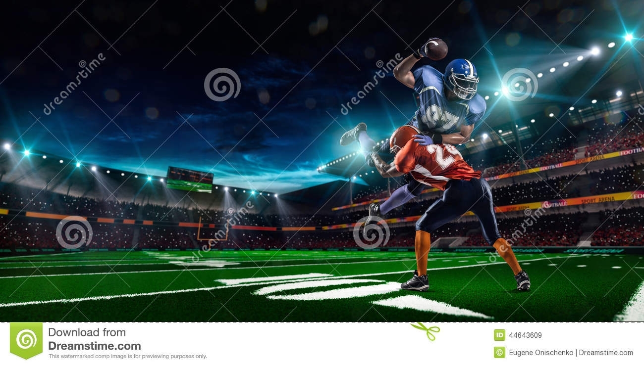 american football player in action stock image - image of activity