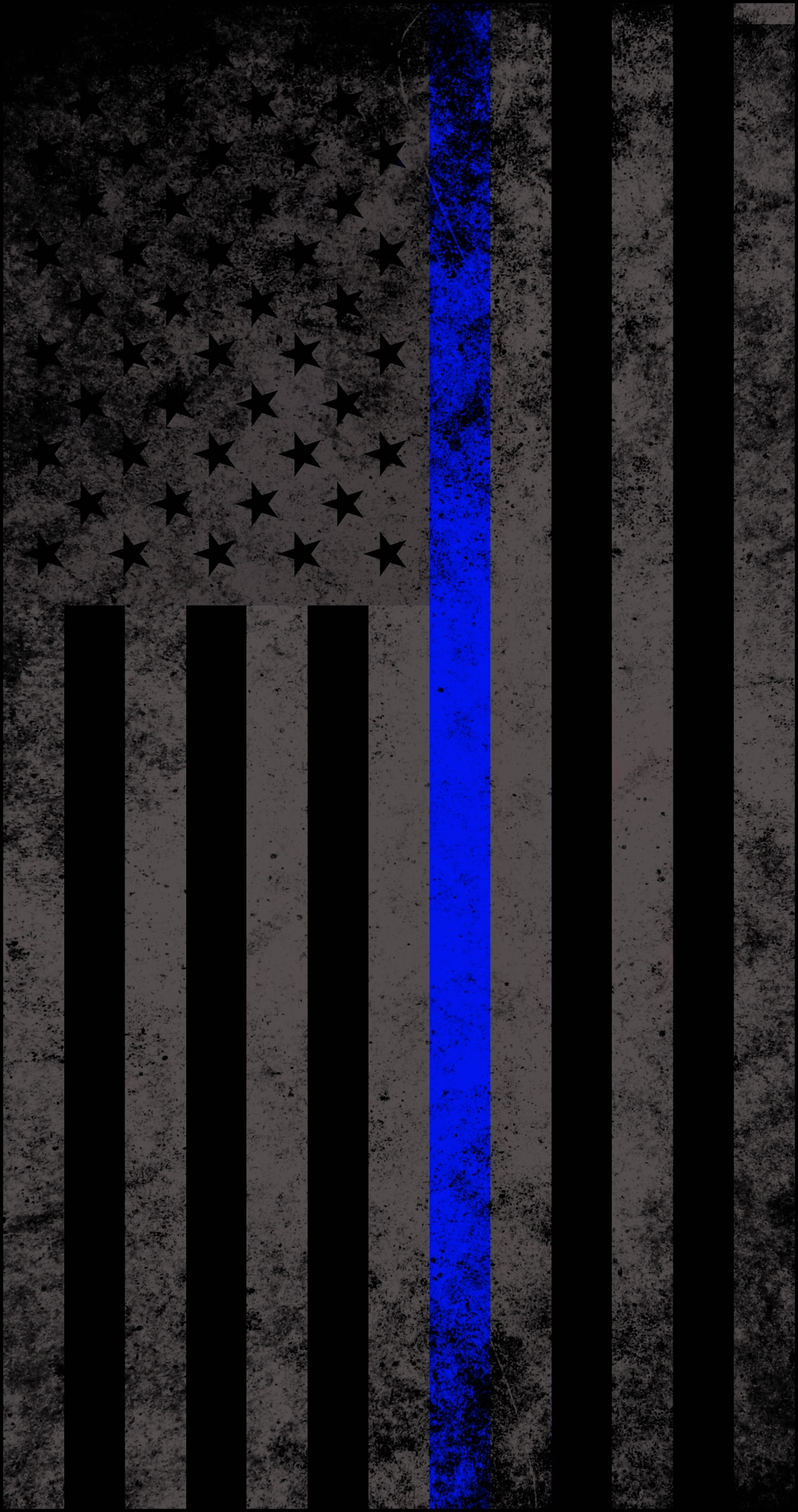 american subdued thin blue line flag decal | emergency responder