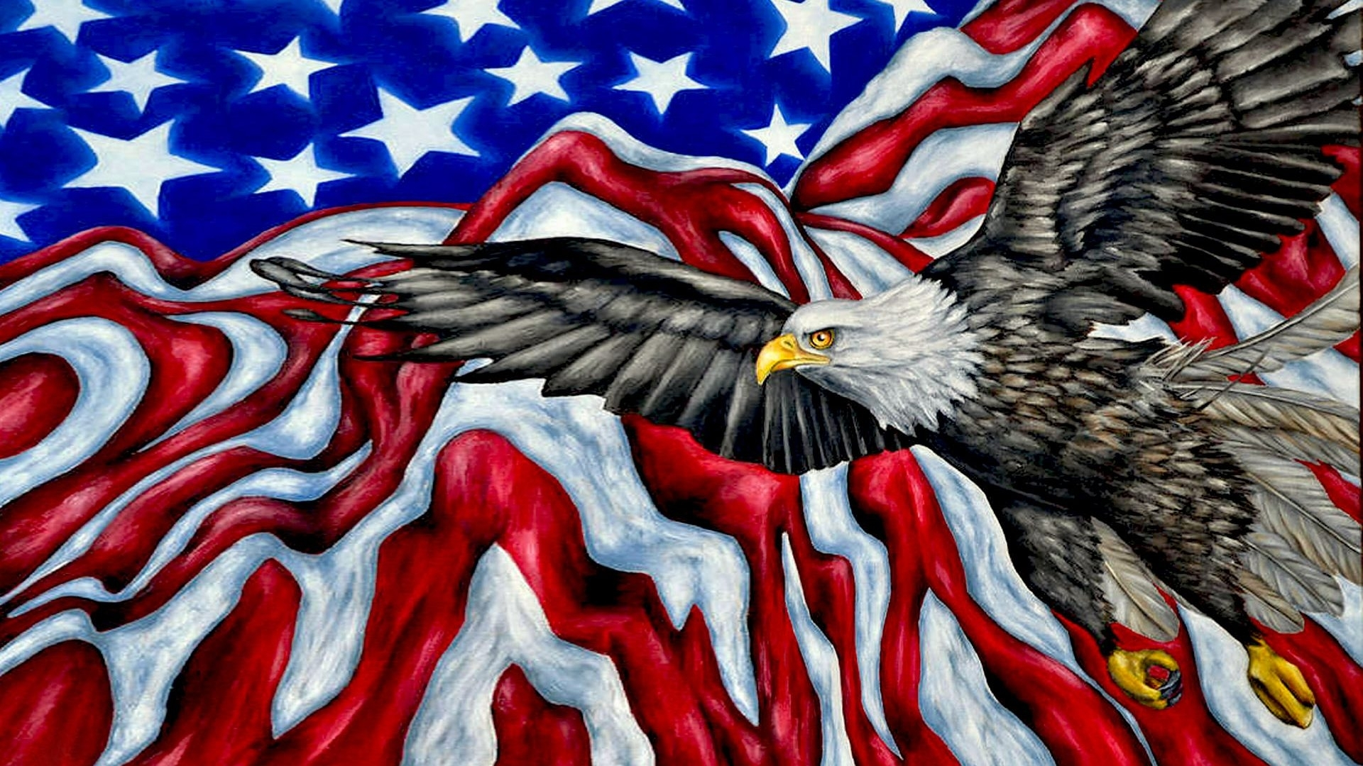 american symbols bald eagle american flag mountains desktop hd
