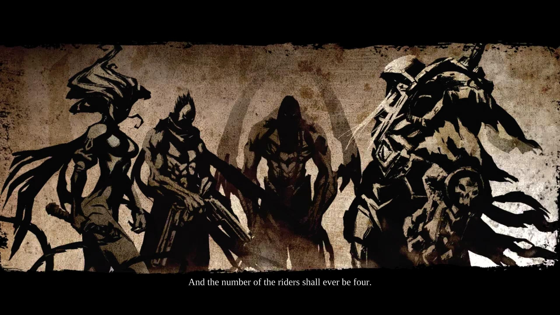and the number of the riders shall ever be four. | darksiders